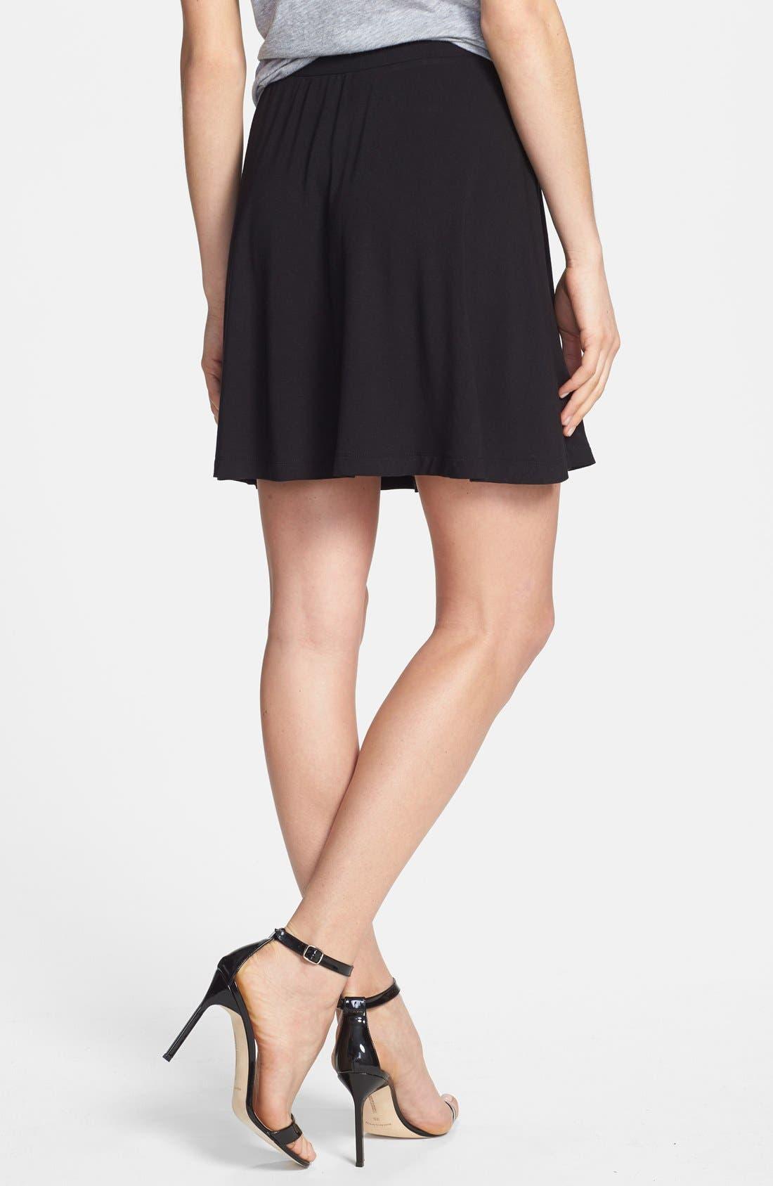 Alternate Image 2  - Caslon® Skater Skirt (Regular & Petite)