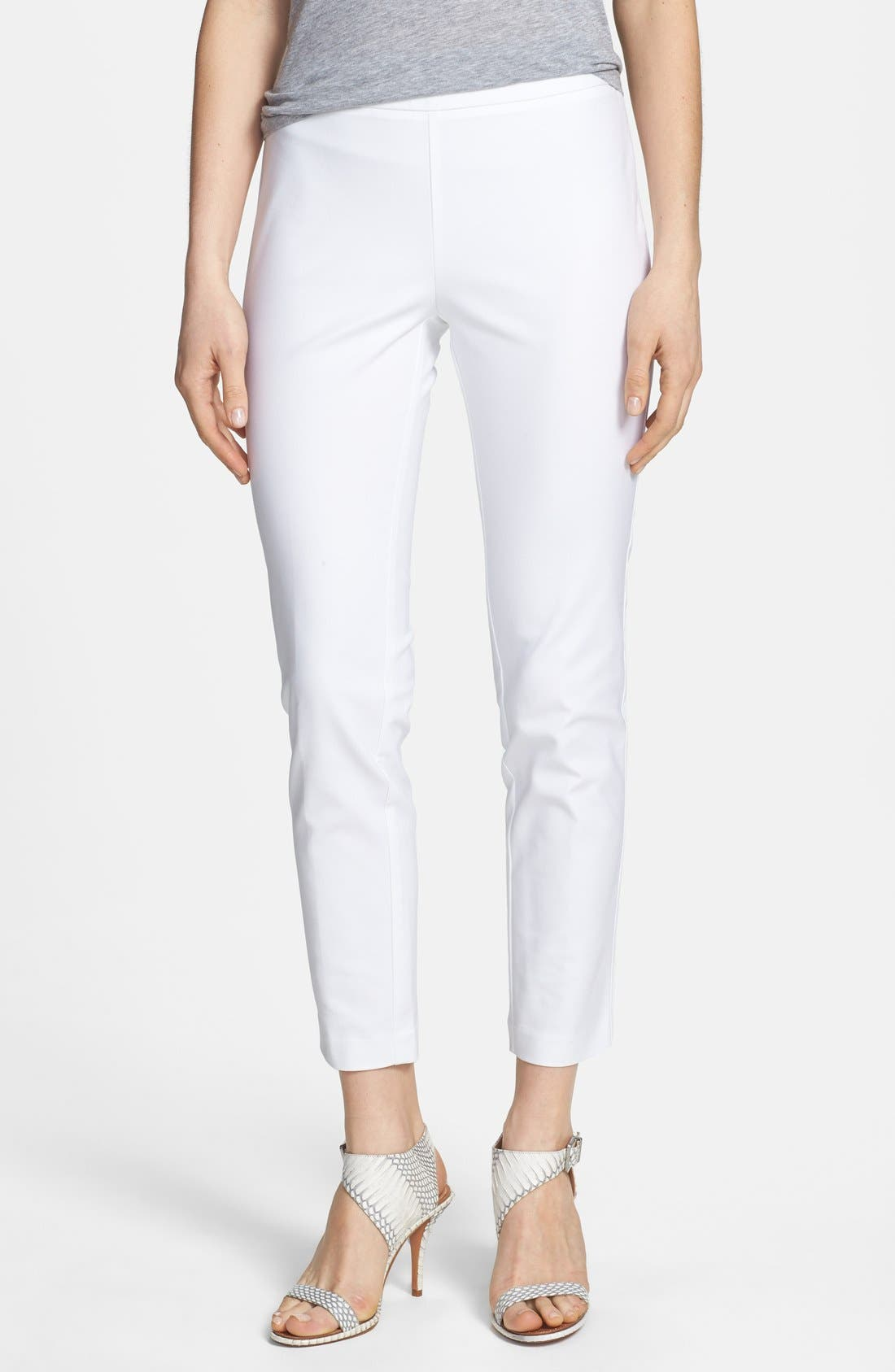Alternate Image 1 Selected - Kenneth Cole New York 'Khloee' Crop Stretch Cotton Pants (Petite)