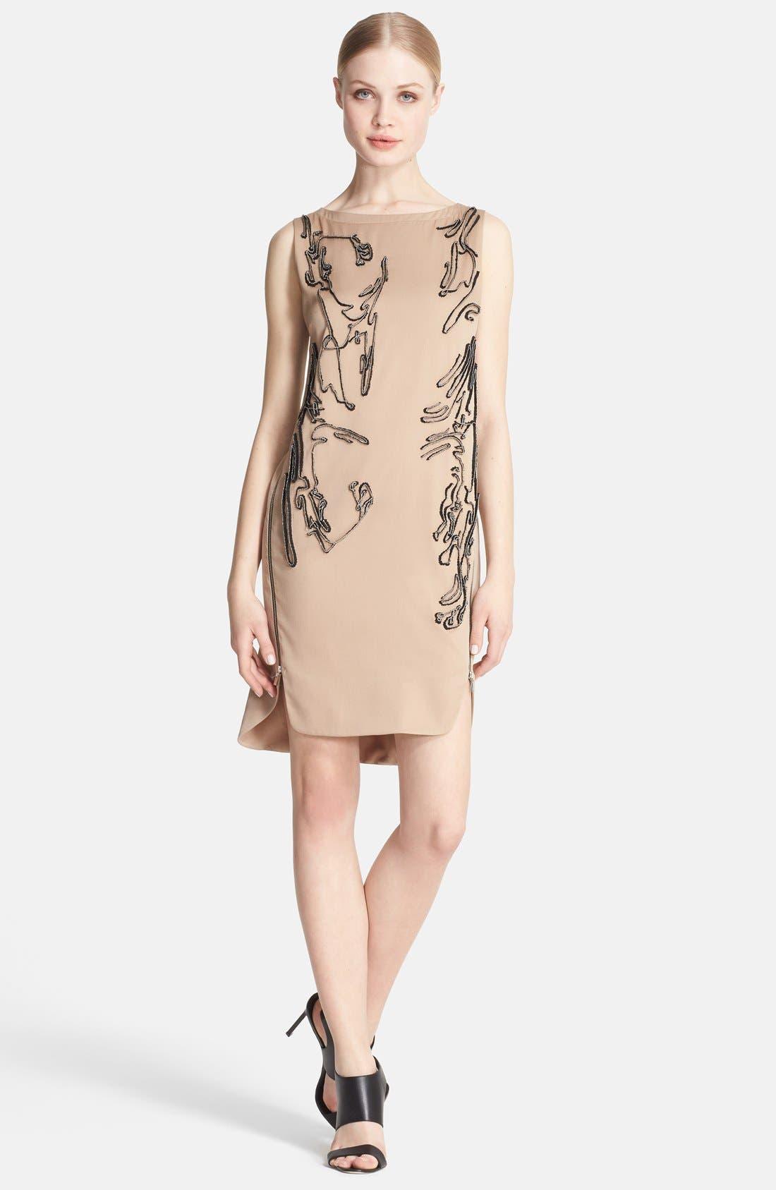 Main Image - Robert Rodriquez Beaded Stretch Silk Dress