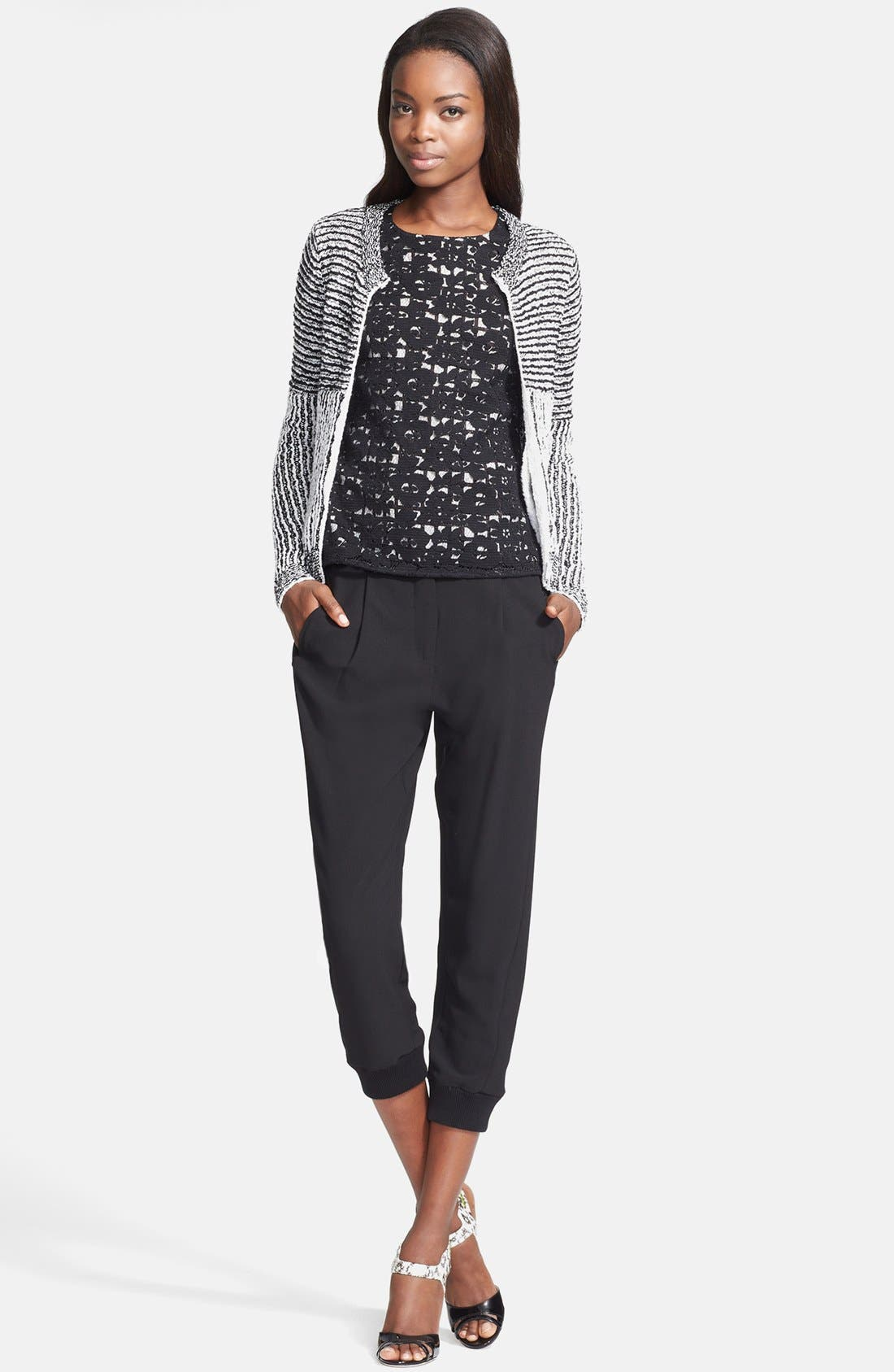 Alternate Image 3  - Tracy Reese Front Zip Sweater Cardigan