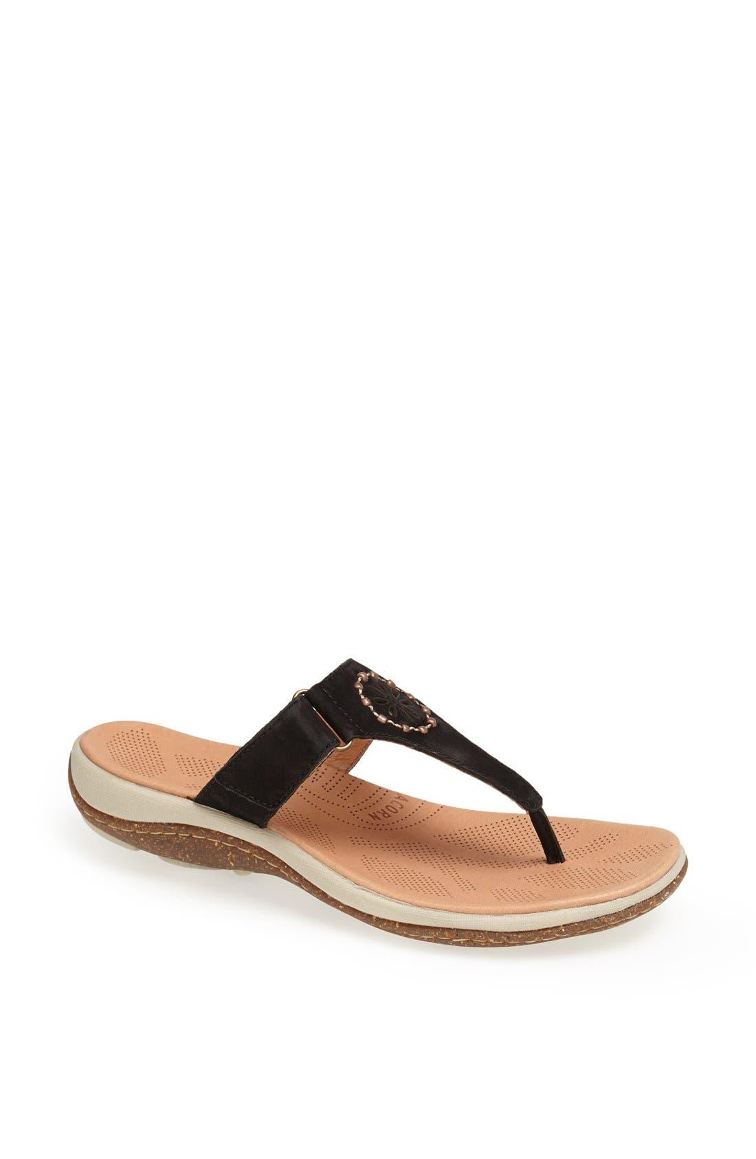 Alternate Image 1 Selected - Acorn 'Vista' Beaded Thong Sandal