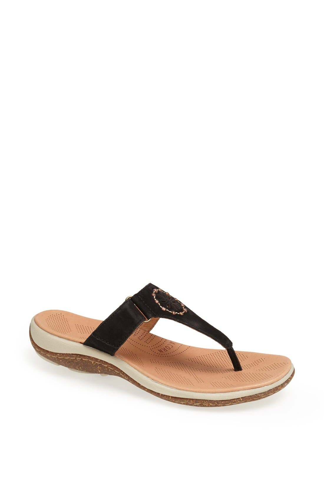 Main Image - Acorn 'Vista' Beaded Thong Sandal