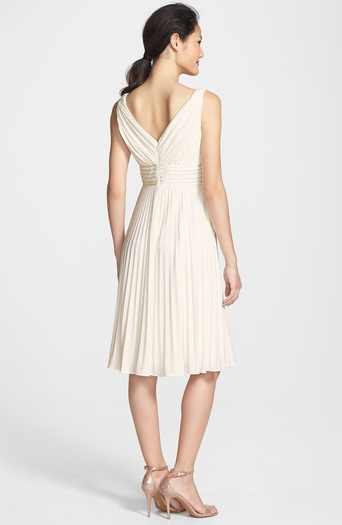 Alternate Image 2  - Ivy & Blu Pleated Jersey Dress