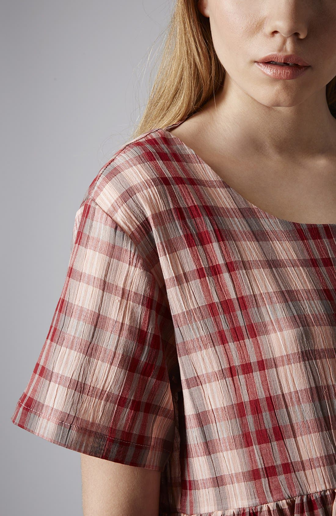 Alternate Image 4  - Topshop Plaid Cotton Smock Dress