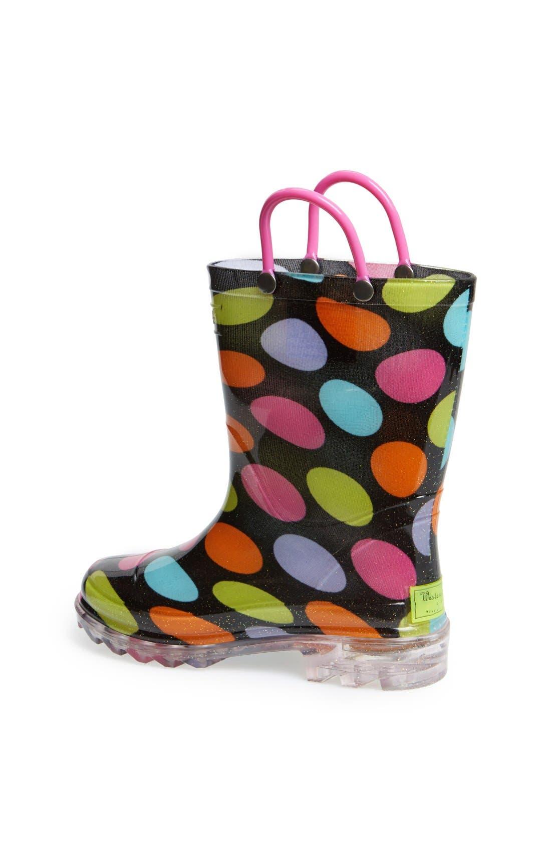 Alternate Image 2  - Western Chief 'Dotty' Light Up Rain Boot (Toddler & Little Kid)