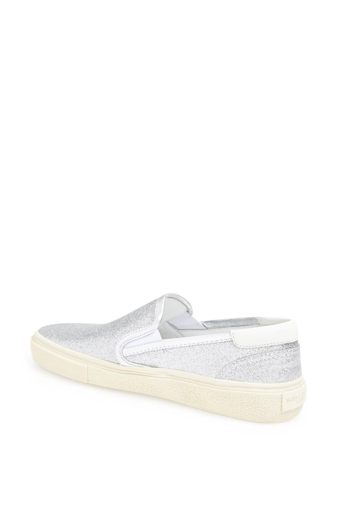 Alternate Image 2  - Saint Laurent 'Skate 20' Glitter Slip-On Sneaker (Women)