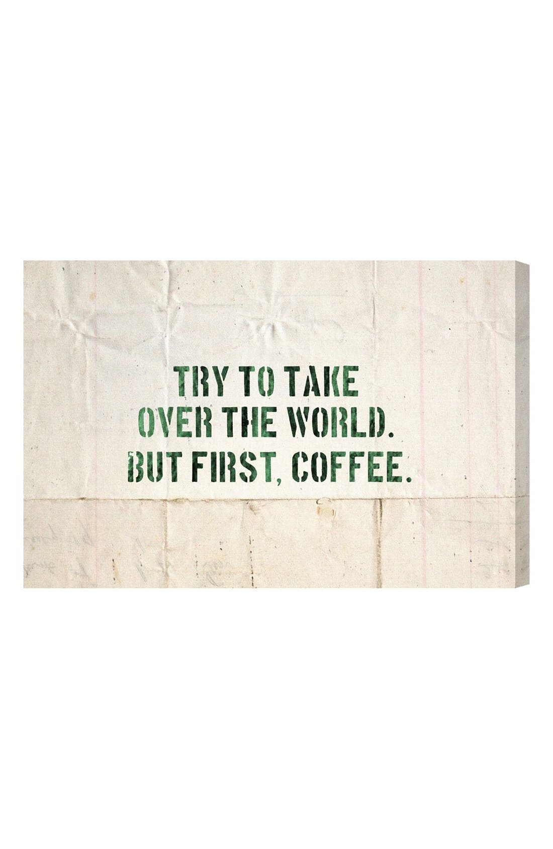 Main Image - Oliver Gal 'Coffee' Wall Art