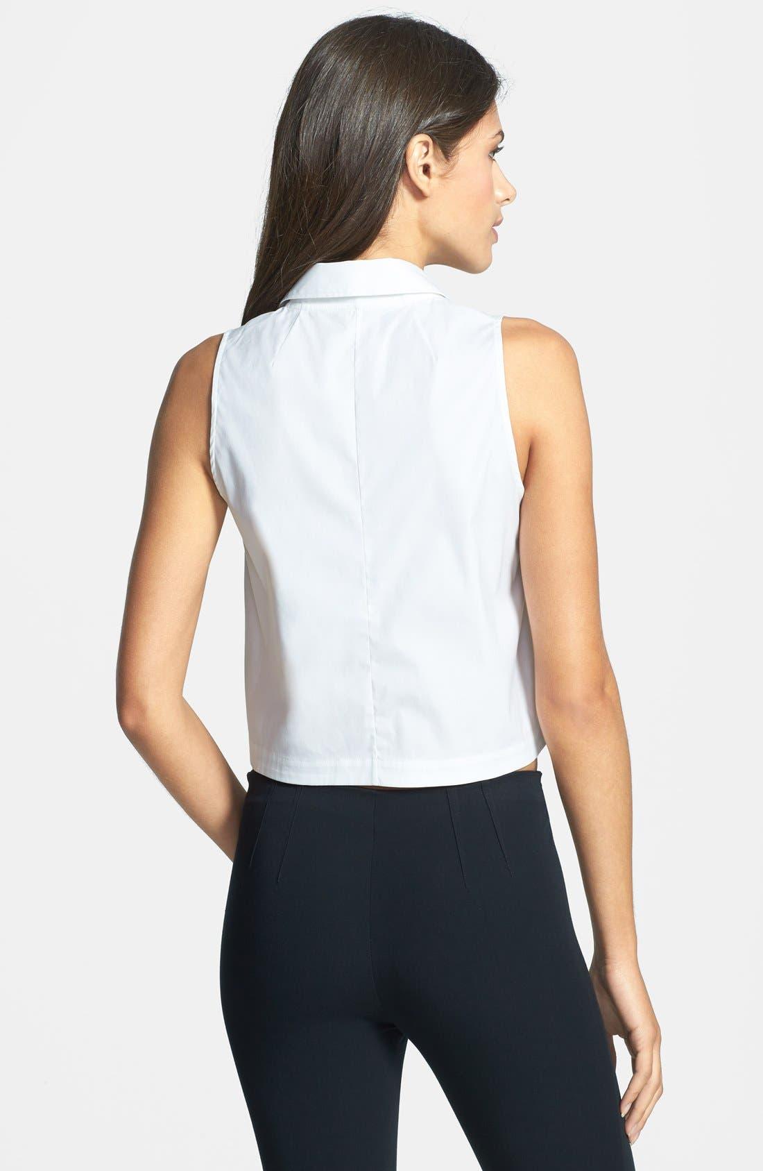 Alternate Image 2  - Theory 'Gemia' Crop Cotton Blend Shirt