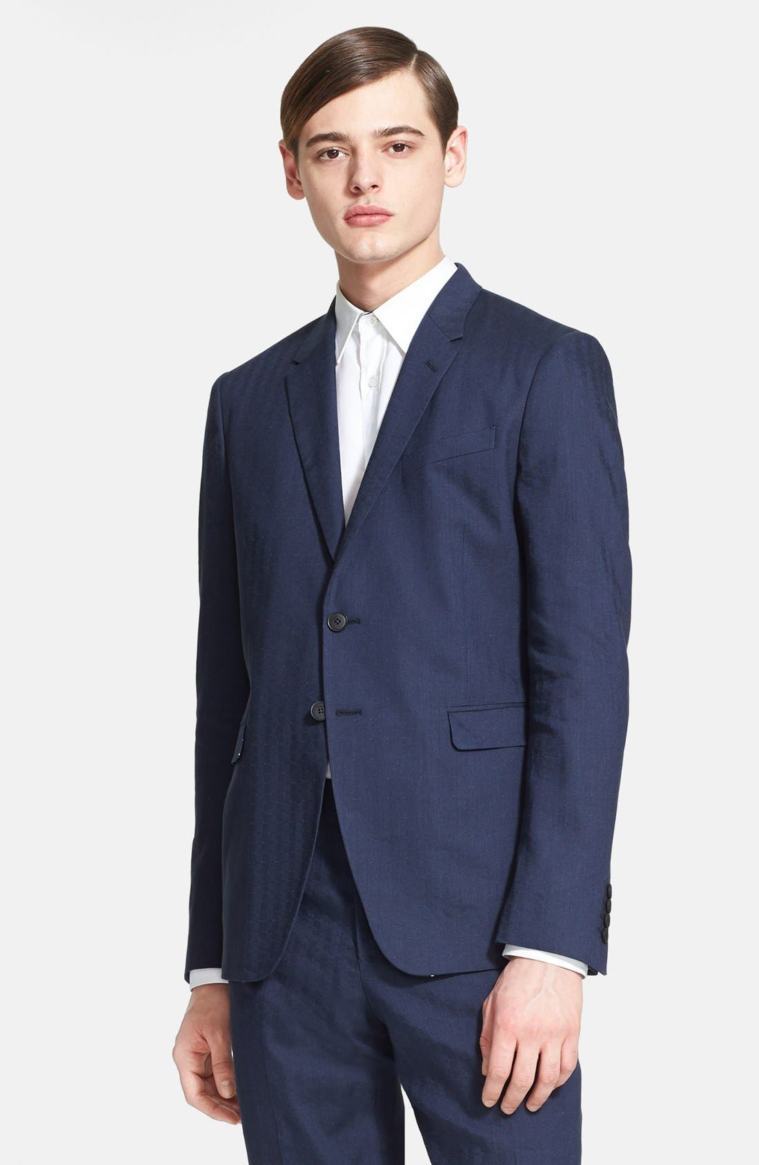 Alternate Image 3  - Paul Smith London 'Kensington' Dot Check Linen Blend Suit