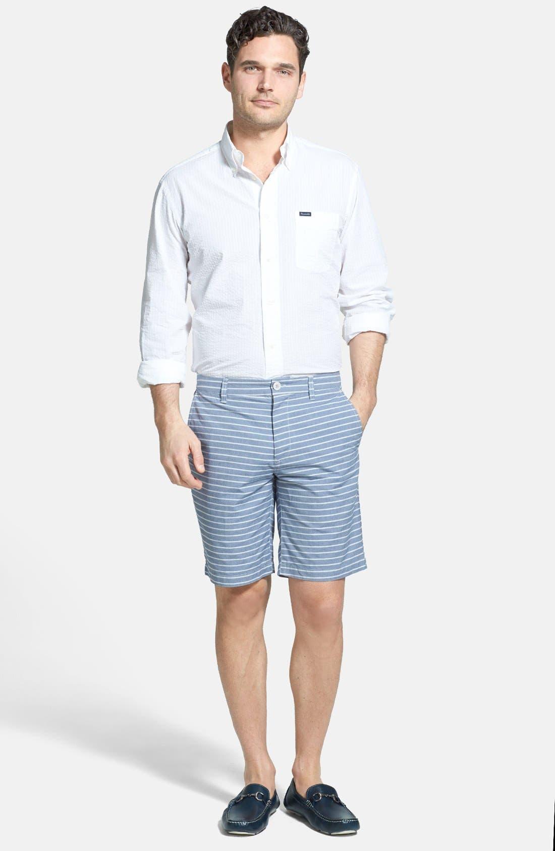 Alternate Image 4  - Façonnable Classic Fit Seersucker Sport Shirt (Tall)