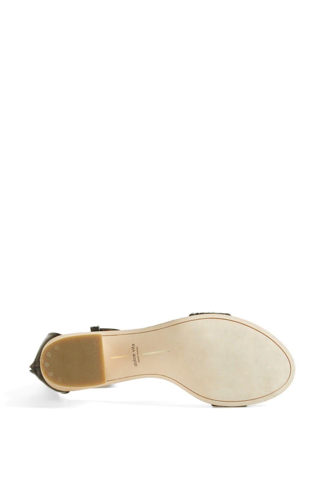 Alternate Image 4  - Dolce Vita 'Foxie' Snakeskin & Leather Sandal