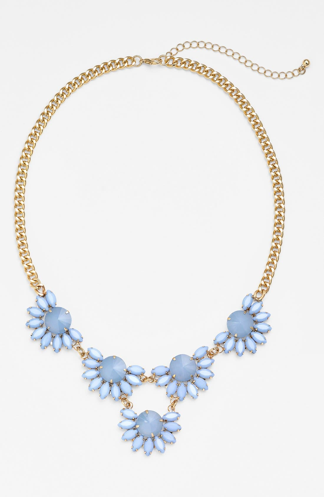 Alternate Image 1 Selected - BP. Floral Stone Frontal Necklace (Juniors)