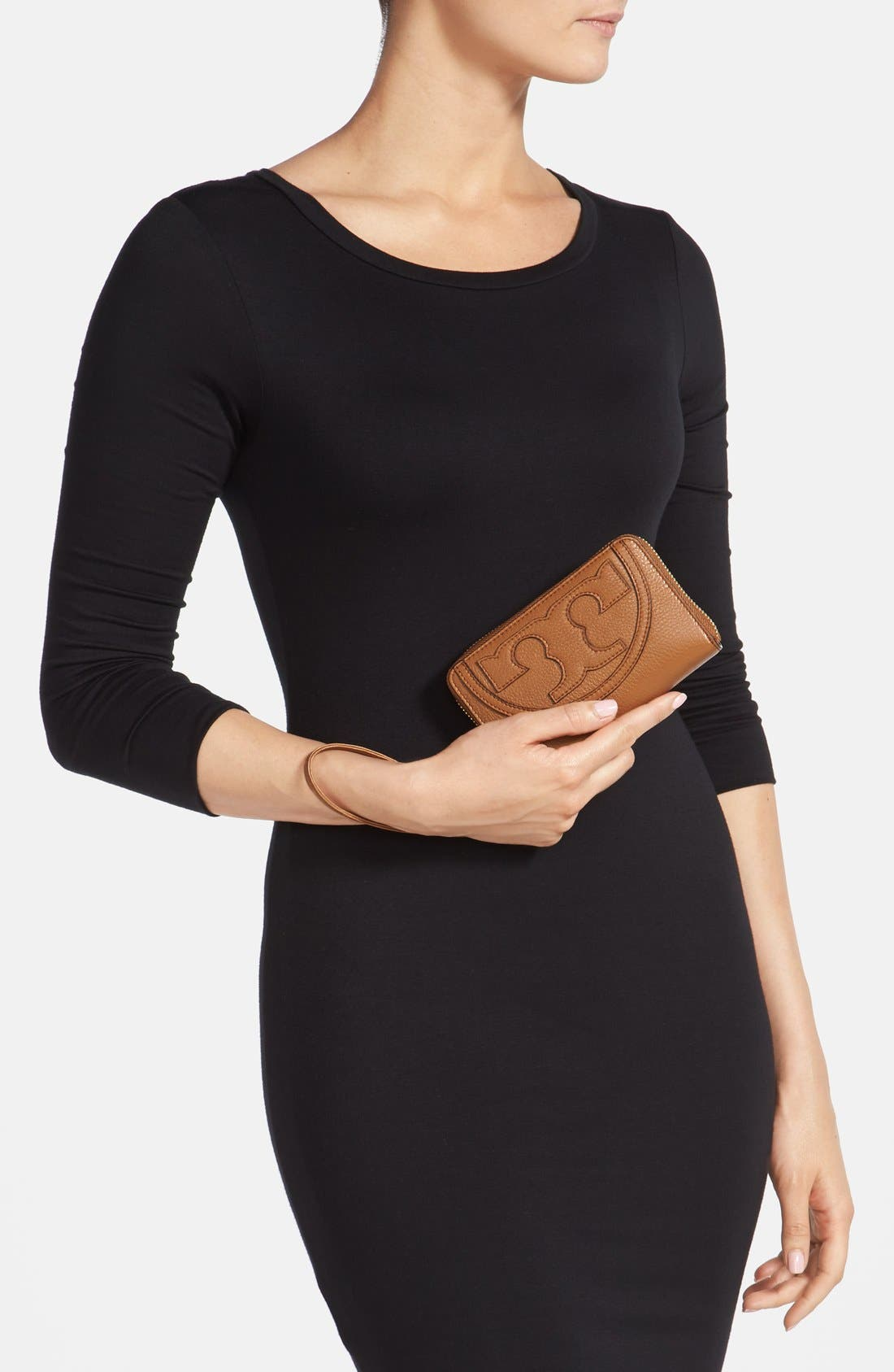 Alternate Image 2  - Tory Burch 'All T' Leather Phone Wallet