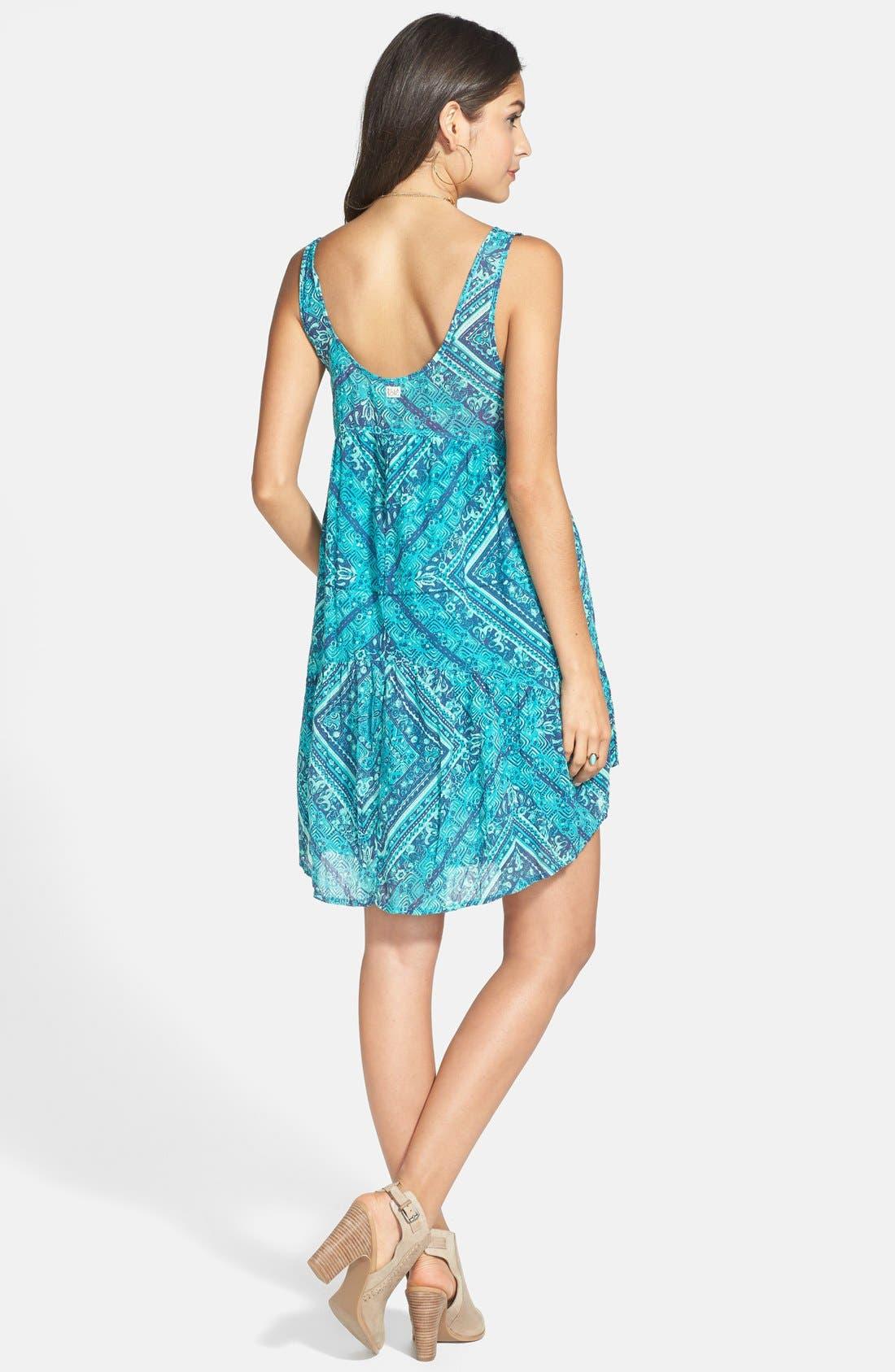 Alternate Image 2  - Billabong 'Lay It Back' Print Trapeze Dress (Juniors)