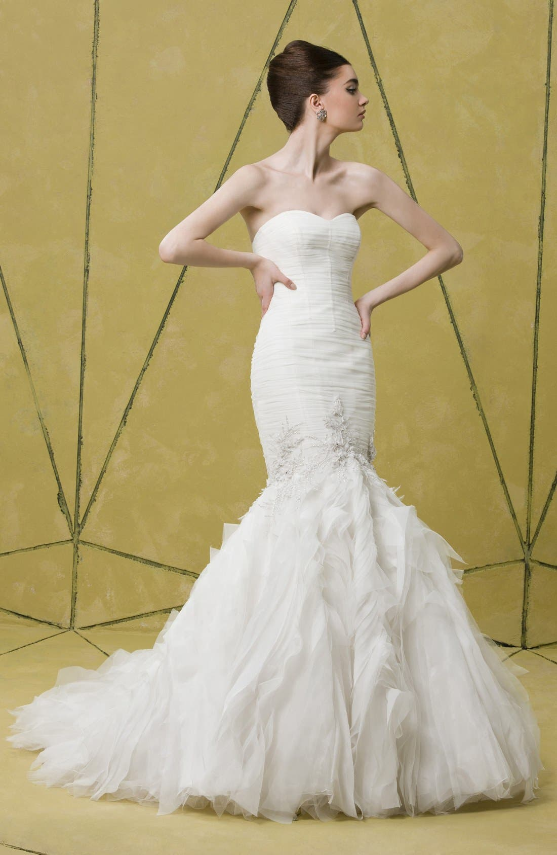 Alternate Image 4  - Badgley Mischka Bridal 'Bridgette' Embellished Tulle Mermaid Dress (In Stores Only)