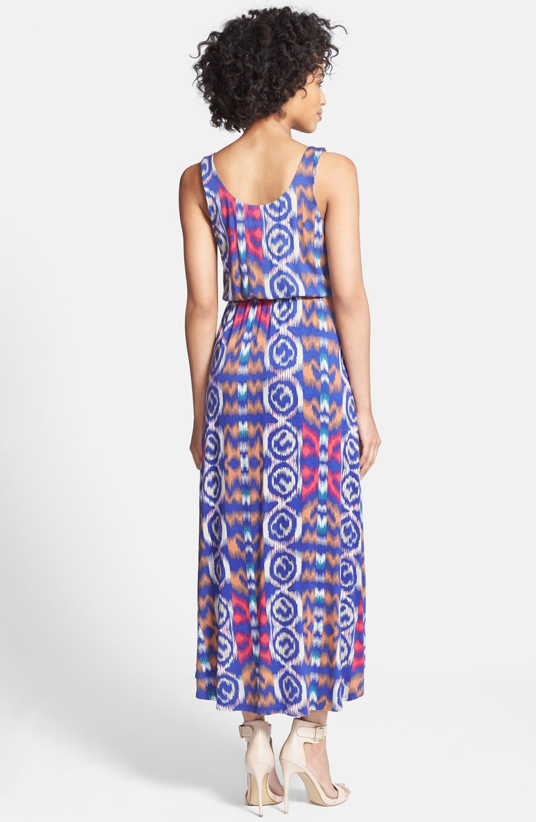 Alternate Image 2  - Felicity & Coco Print High/Low Maxi Dress (Petite) (Nordstrom Exclusive)
