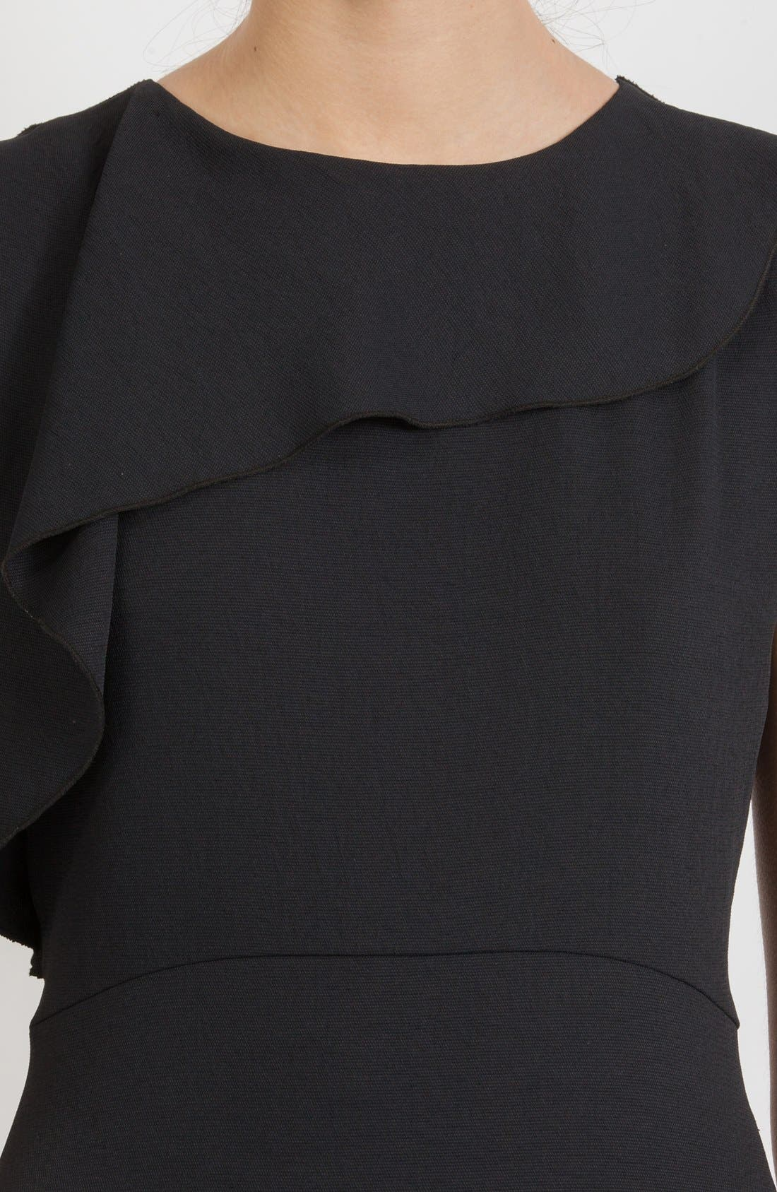 Alternate Image 3  - maje Asymmetrical Flounce Sheath Dress