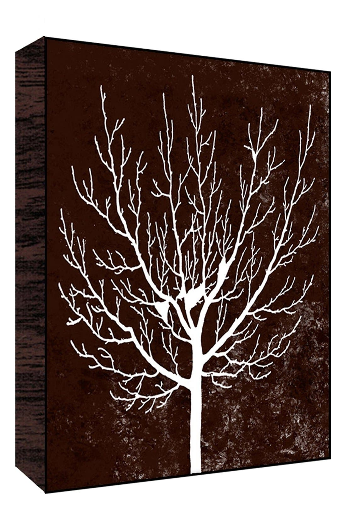 Alternate Image 1 Selected - Green Leaf Art 'Winter Tree on Brown II' Wall Art
