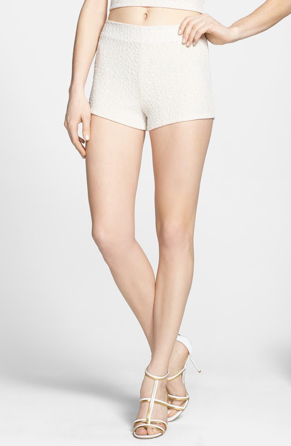Alternate Image 1 Selected - ASTR Textured Foil Shorts