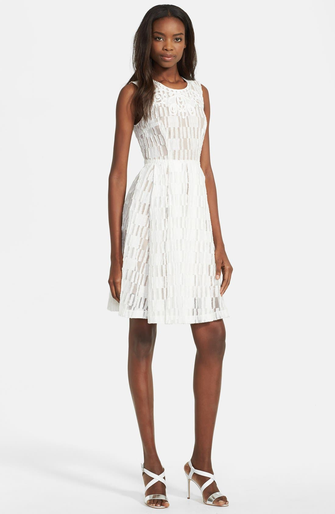 Alternate Image 1 Selected - Tracy Reese Lace Fit & Flare Dress