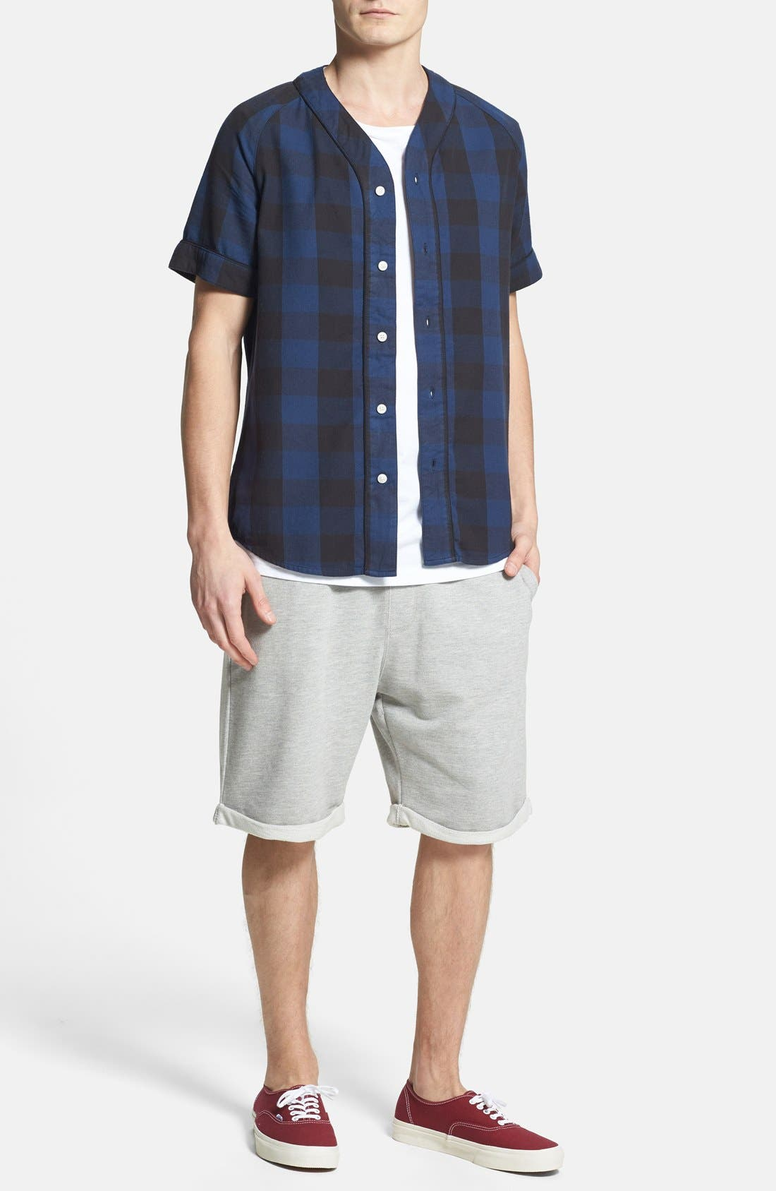 Alternate Image 5  - Topman  Trim Fit Jersey Sweatshorts