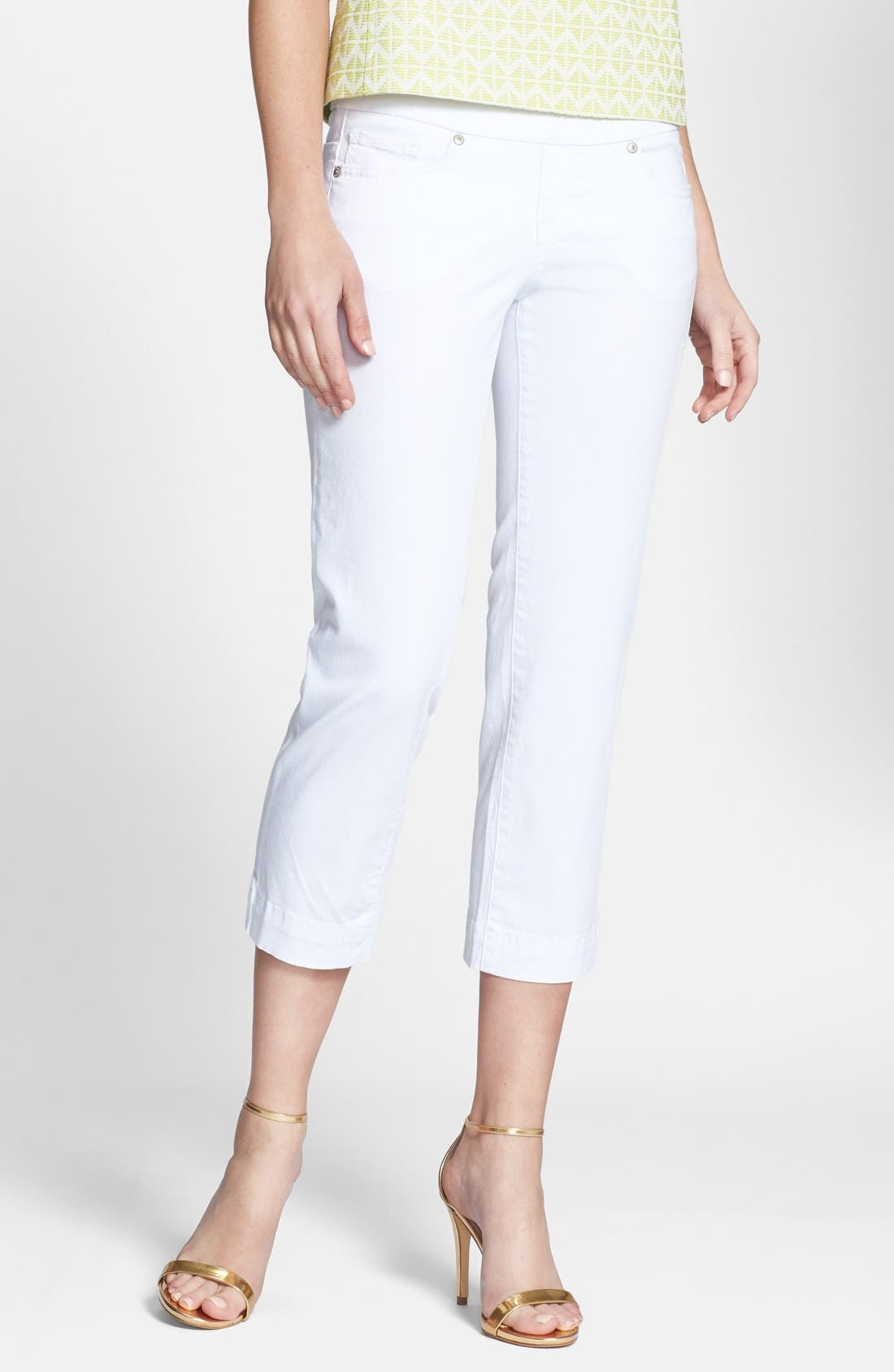 Alternate Image 1 Selected - Jag Jeans 'Felicia' Stretch Twill Crop Jeans