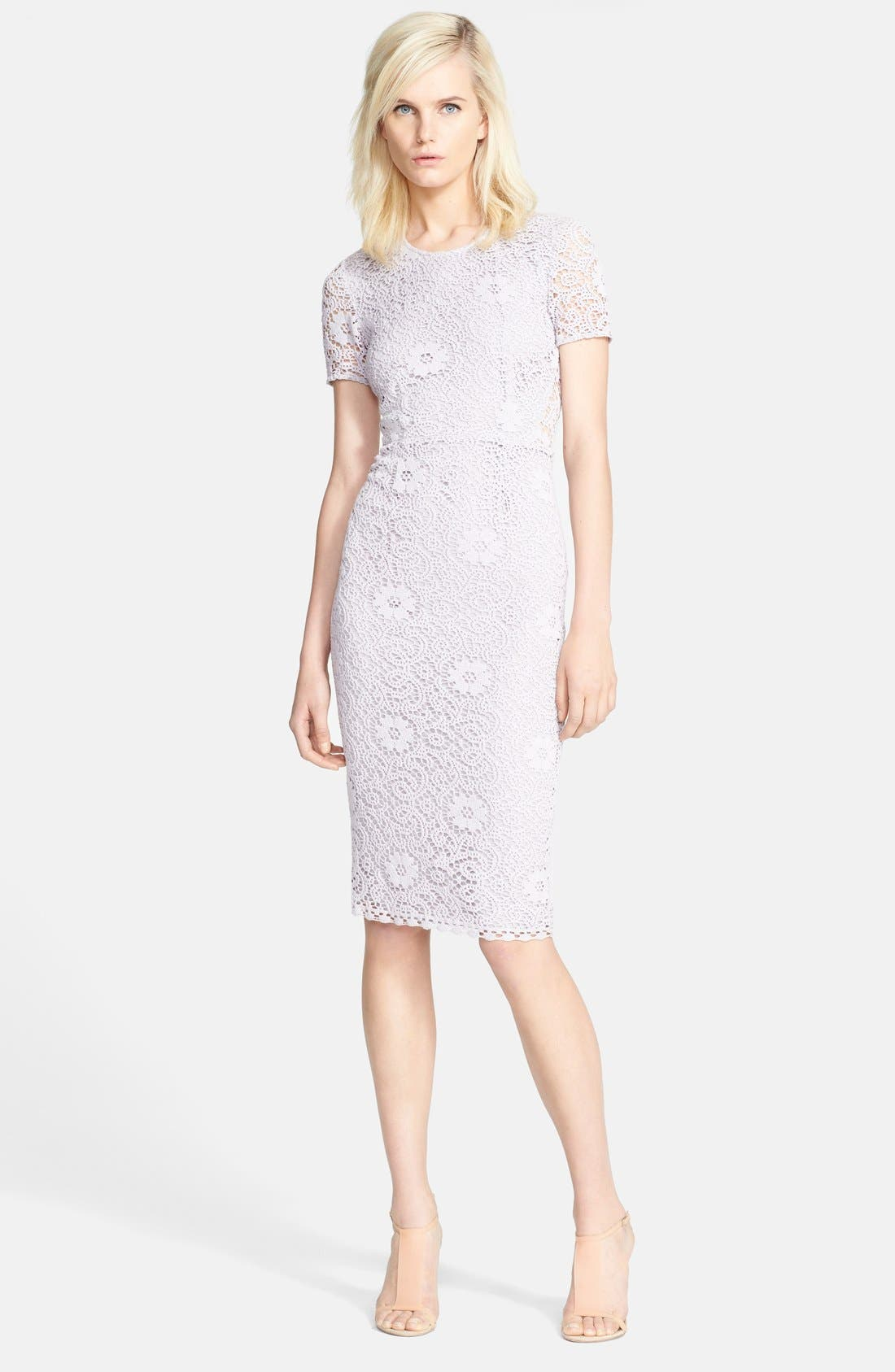 Alternate Image 1 Selected - Burberry London 'Lynnie' Lace Pencil Dress