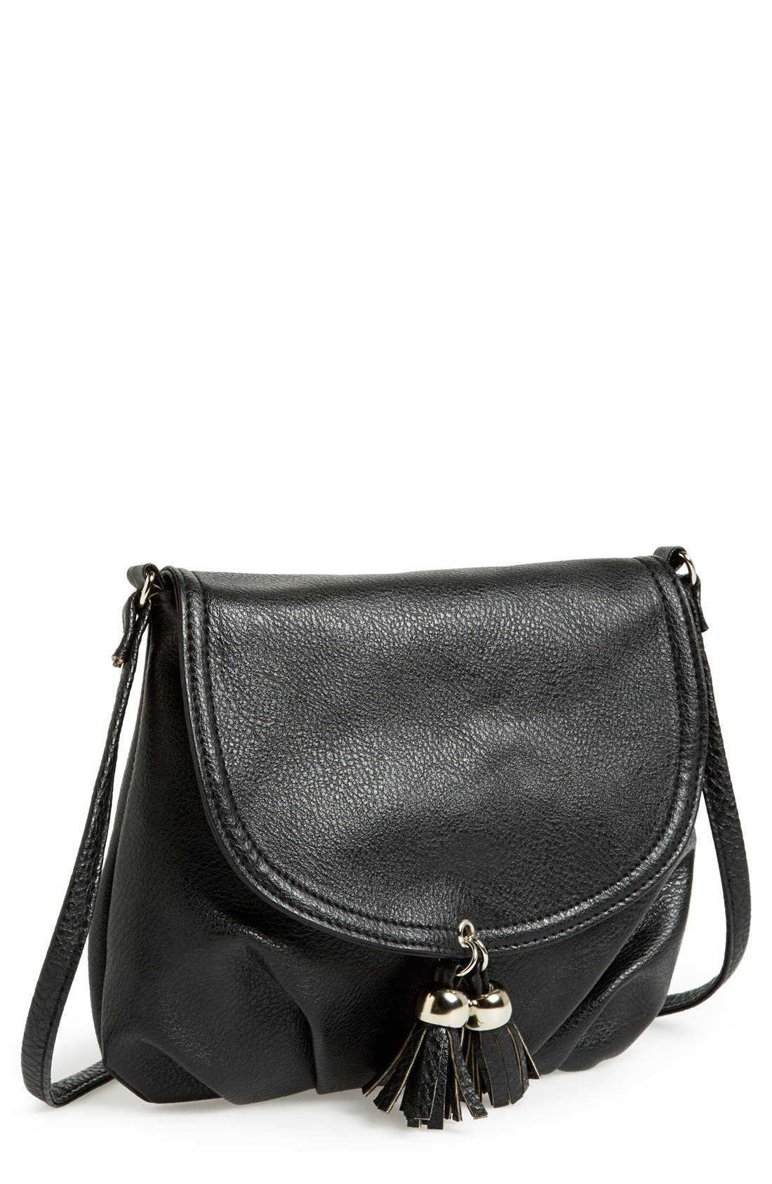Alternate Image 1 Selected - Amici Accessories Tassel Crossbody Bag (Juniors)