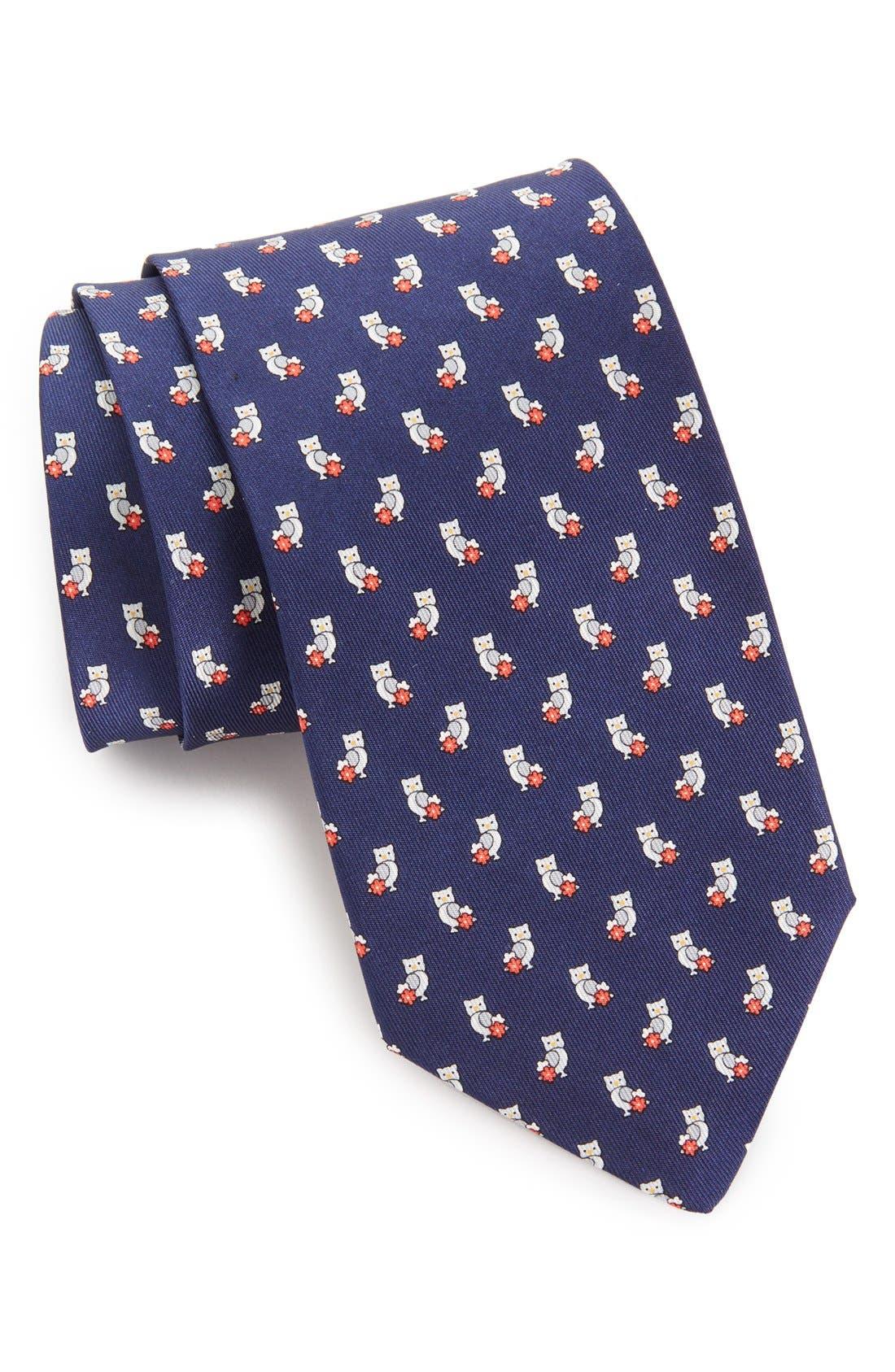Main Image - Salvatore Ferragamo Owl Print Tie