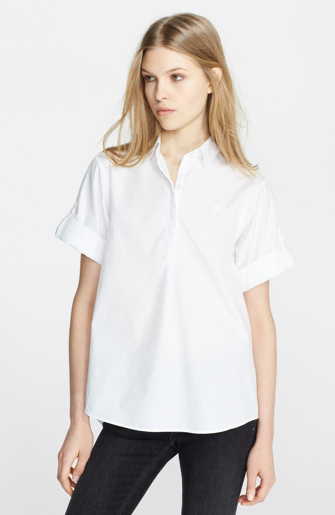 Main Image - Burberry Brit Cotton Roll Sleeve Shirt