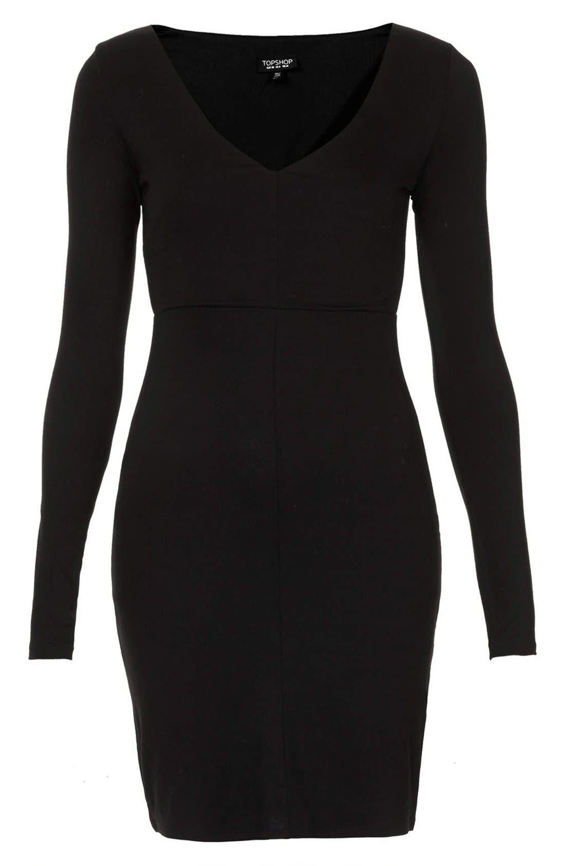 Alternate Image 3  - Topshop Seam Detail Jersey Body-Con Dress