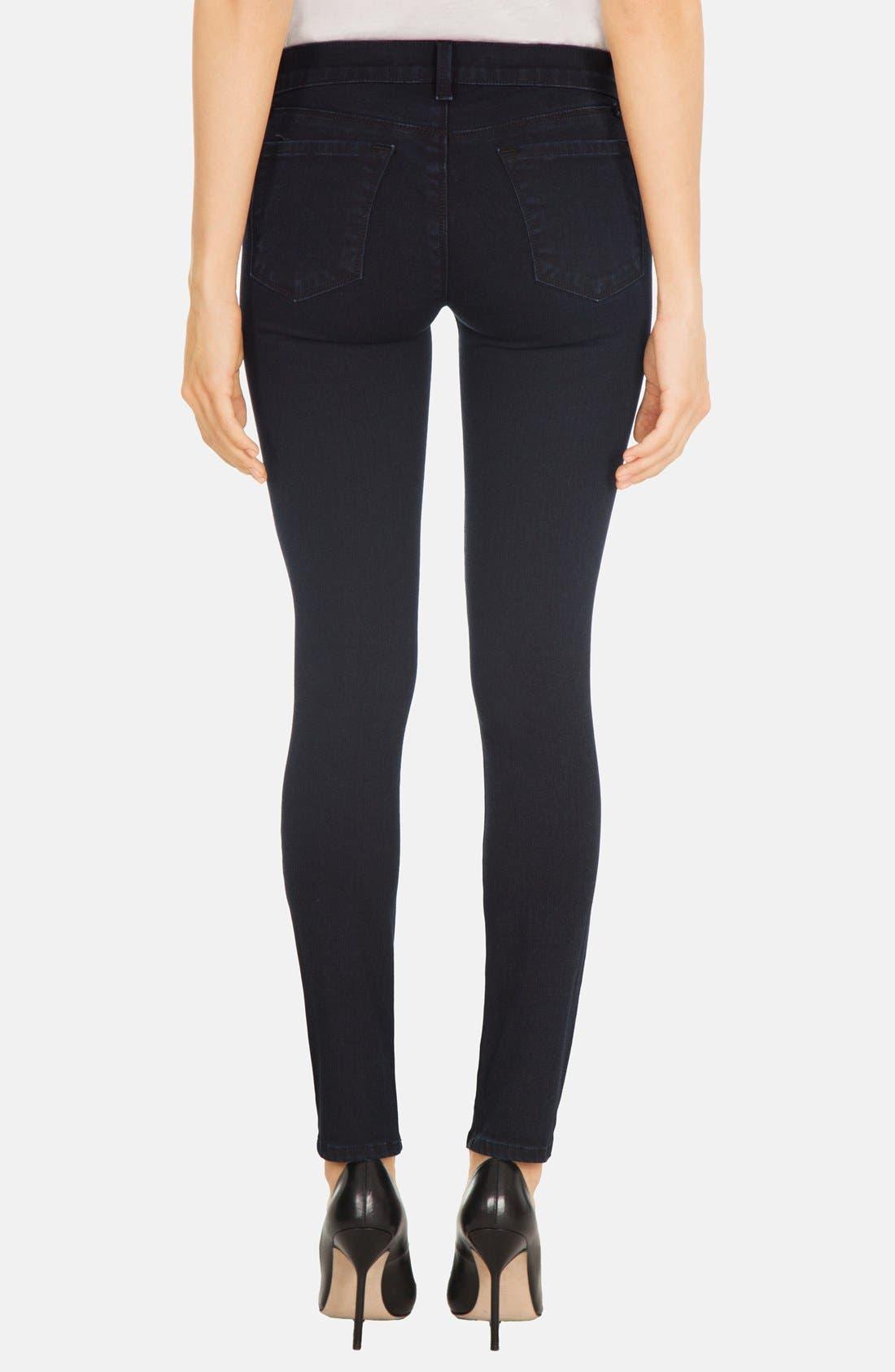 Alternate Image 2  - J Brand Skinny Stretch Denim Jeans (Blue Bird)