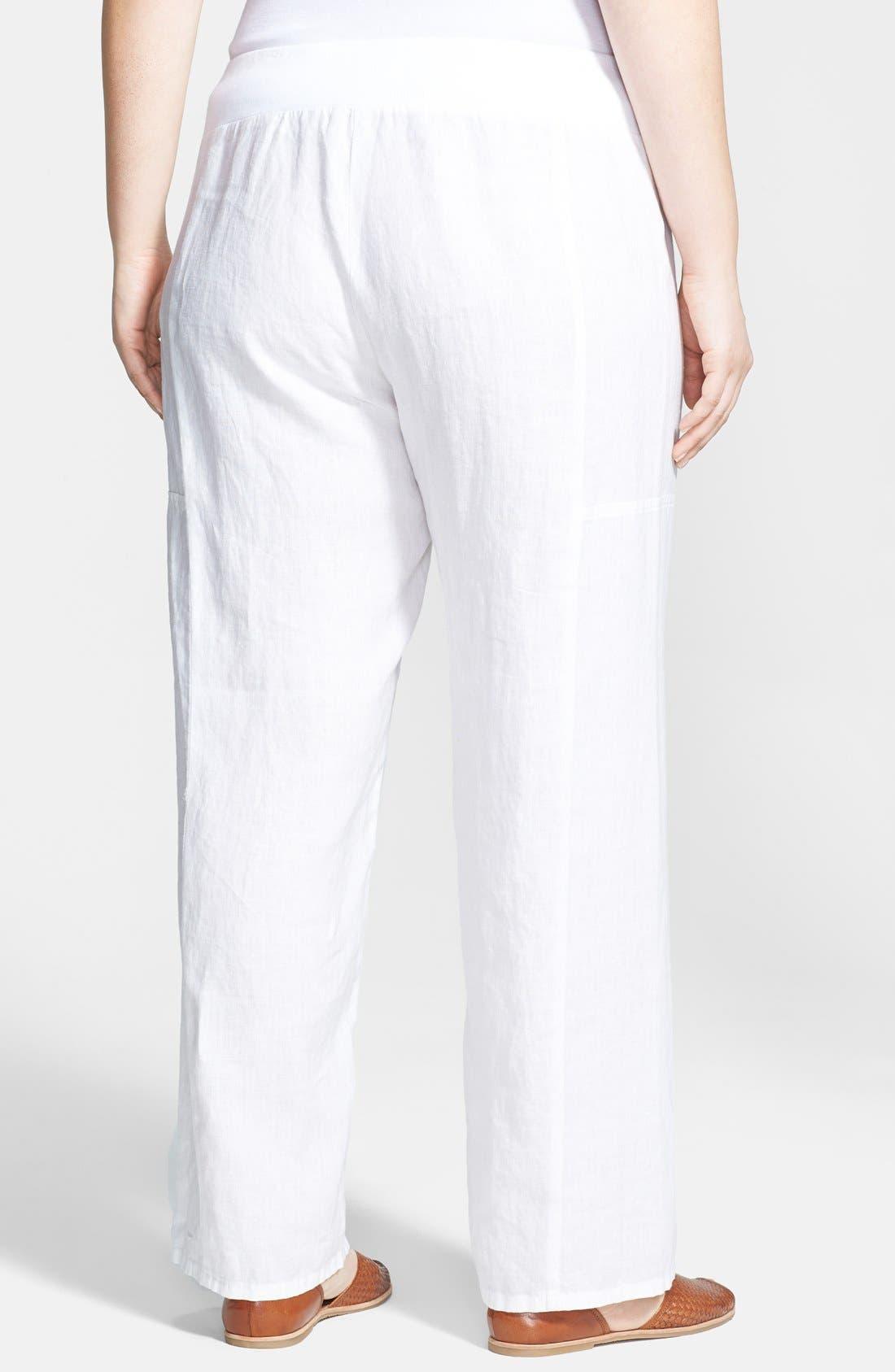 Alternate Image 2  - Eileen Fisher Organic Linen Wide Leg Pants