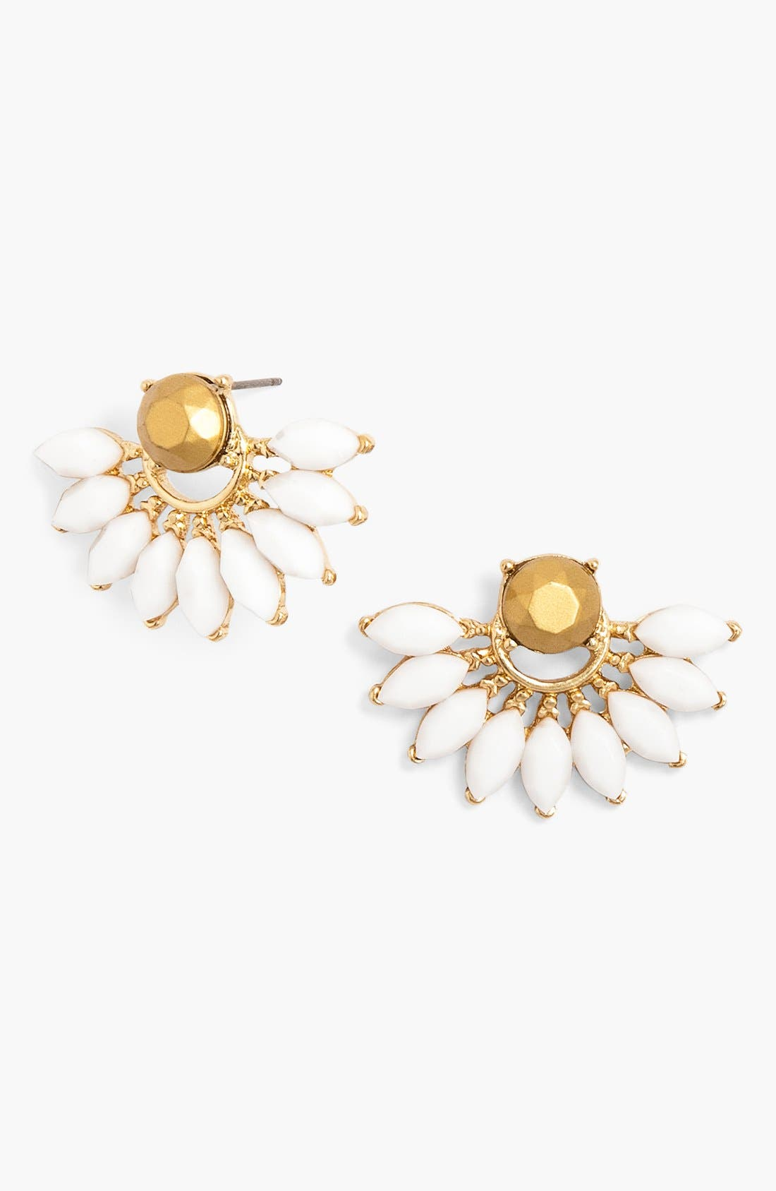 Main Image - BaubleBar 'Peacock' Fan Stud Earrings