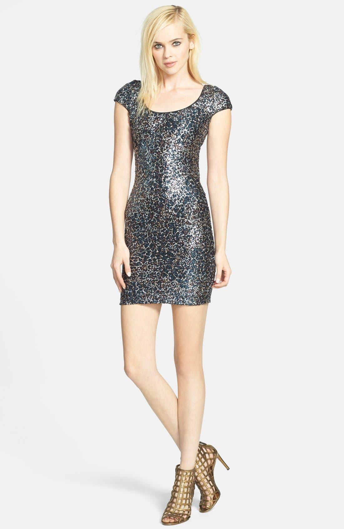 Alternate Image 3  - Dress the Population 'Gabriella' Sequin Body-Con Dress