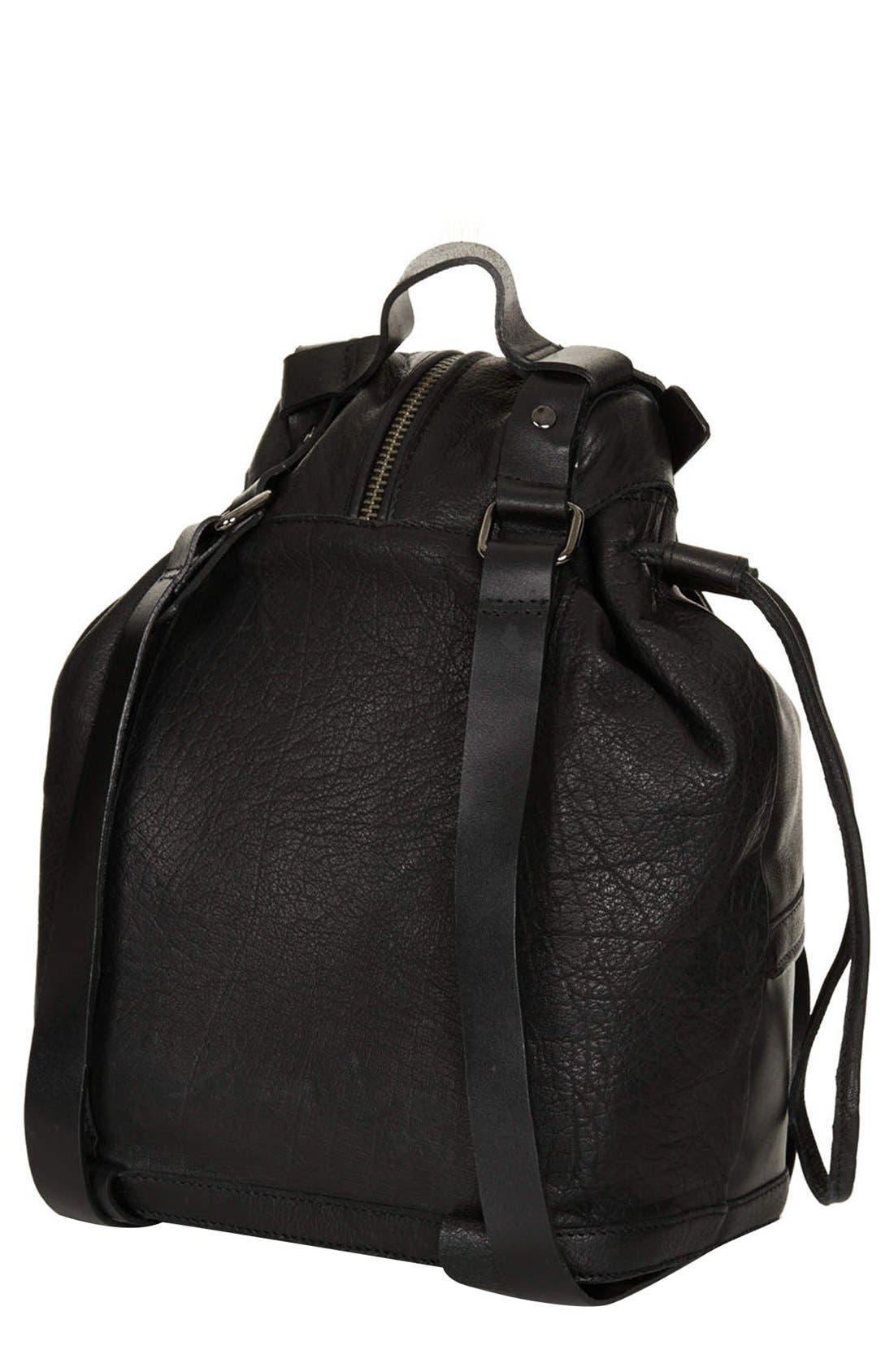 Alternate Image 4  - Topshop Buckled Leather Backpack