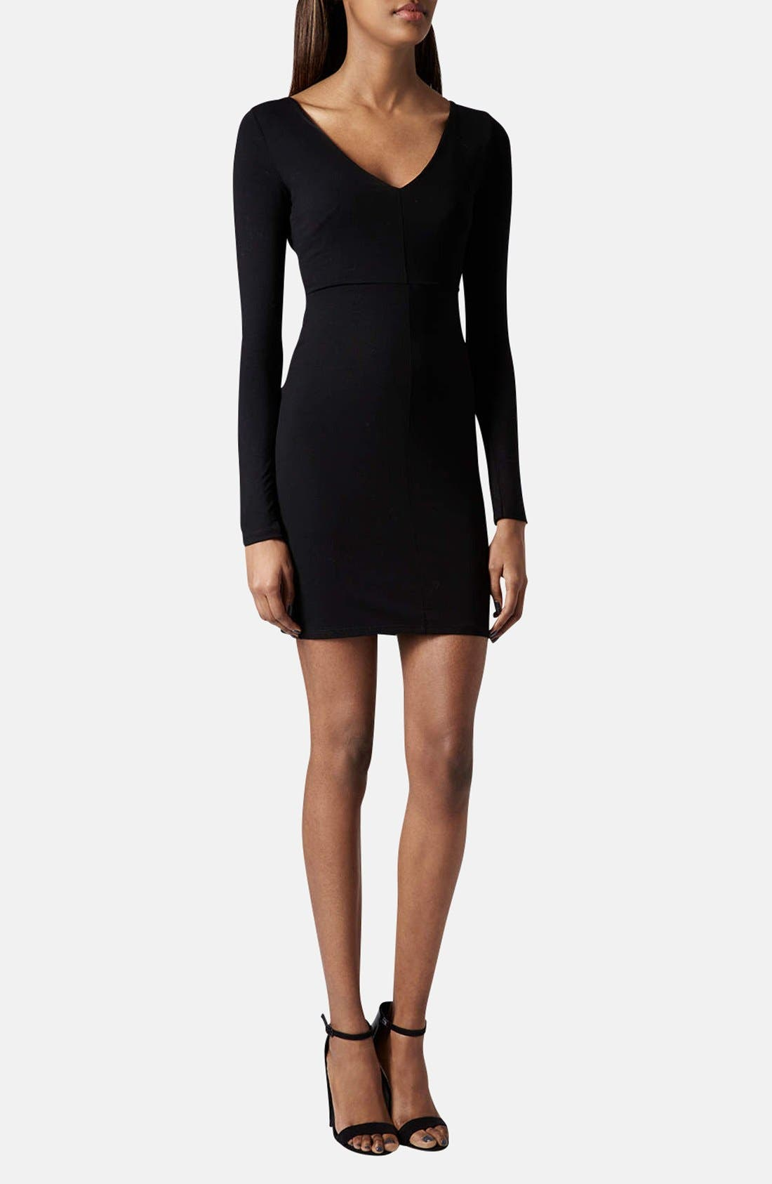 Alternate Image 1 Selected - Topshop Seam Detail Jersey Body-Con Dress