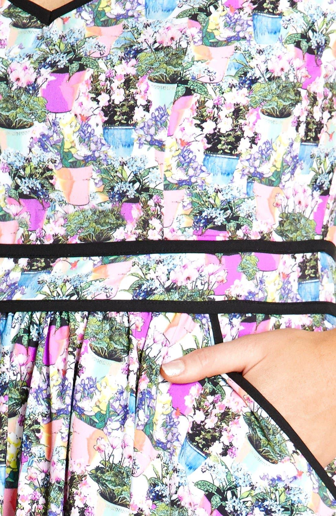 Alternate Image 3  - City Chic 'Miss Flowerpot' Fit & Flare Dress (Plus Size)