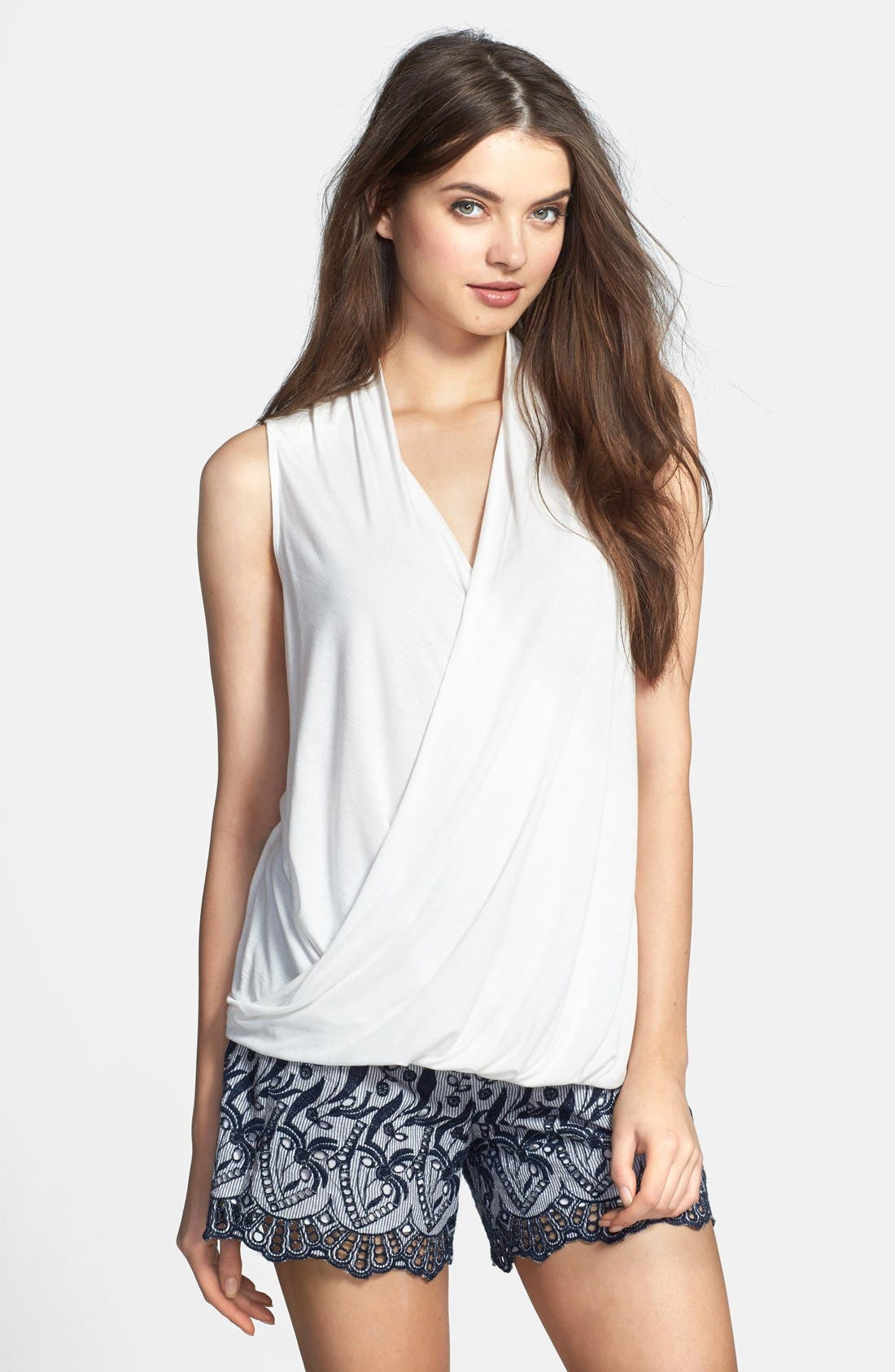 Alternate Image 1 Selected - Two by Vince Camuto High/Low Faux Wrap Top