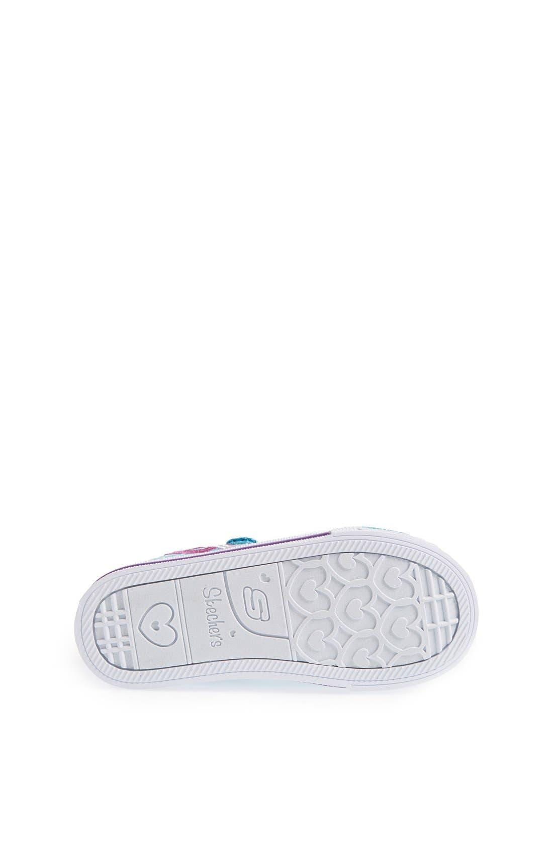 Alternate Image 4  - SKECHERS 'Shuffles - Love Burst' Sneaker (Toddler)