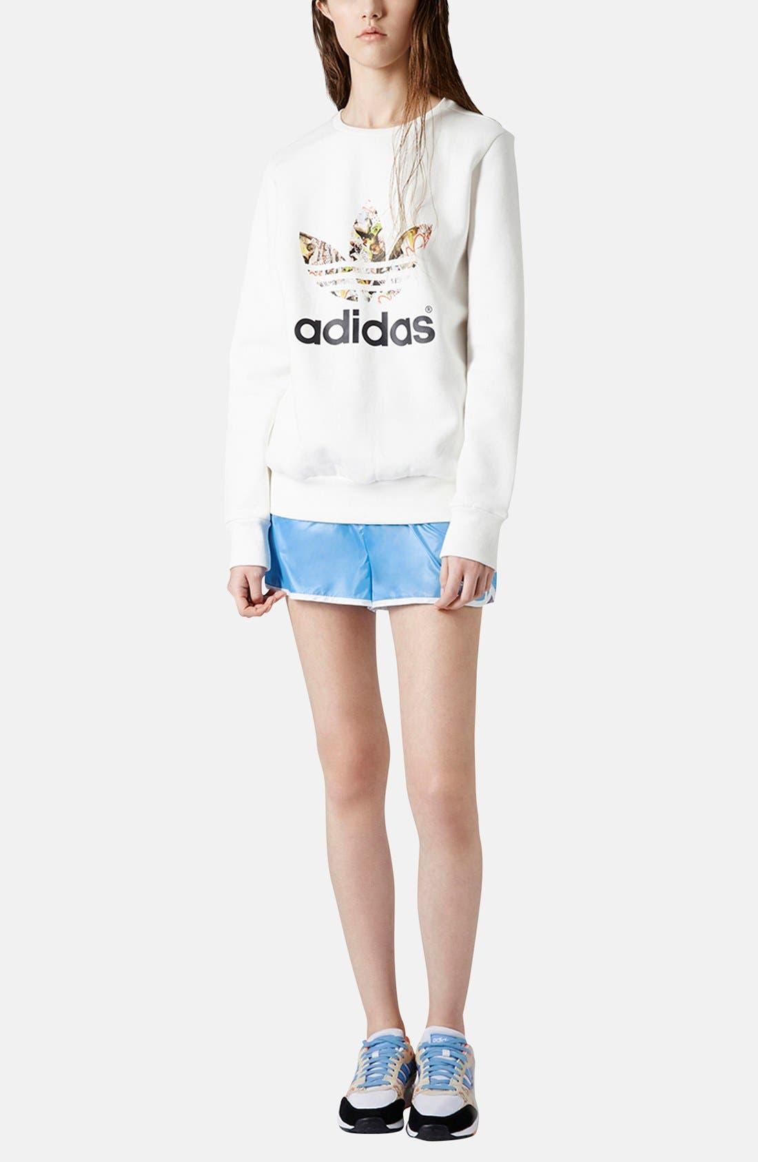 Alternate Image 5  - Topshop x adidas Originals Blue Shorts