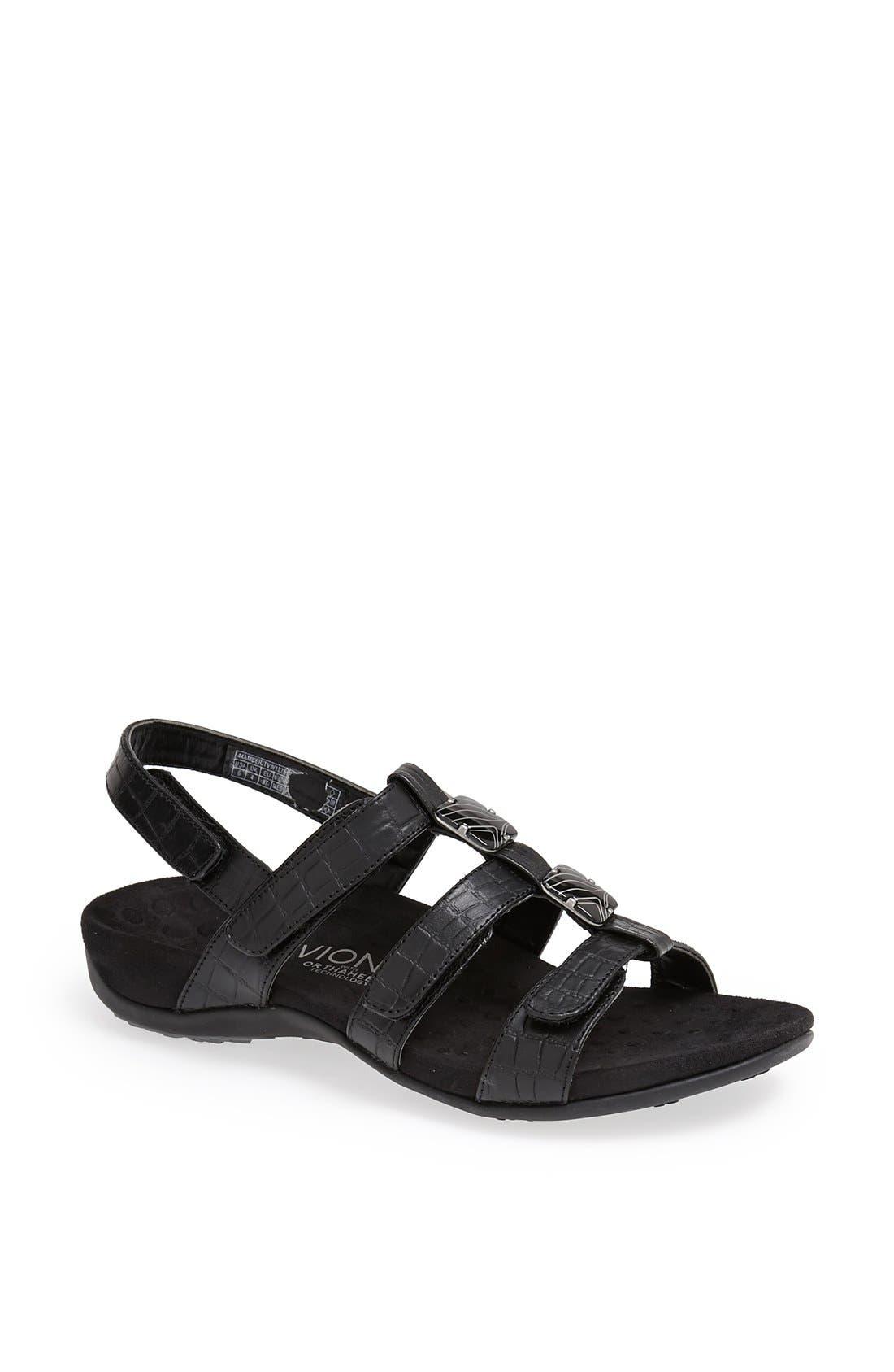 Vionic with Orthaheel® 'Amber' Adjustable Sandal
