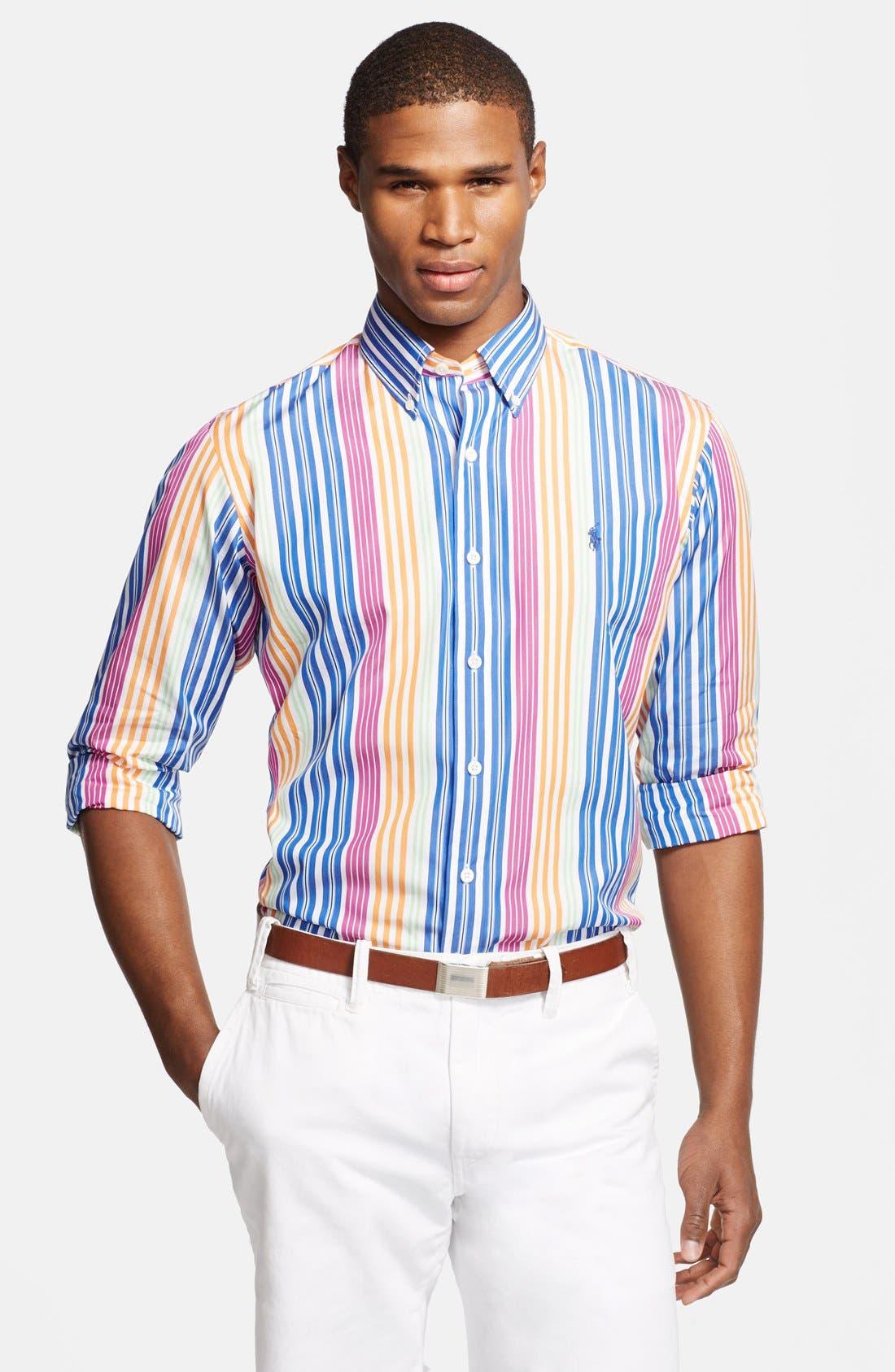 Alternate Image 1 Selected - Polo Ralph Lauren Custom Fit Stripe Sport Shirt