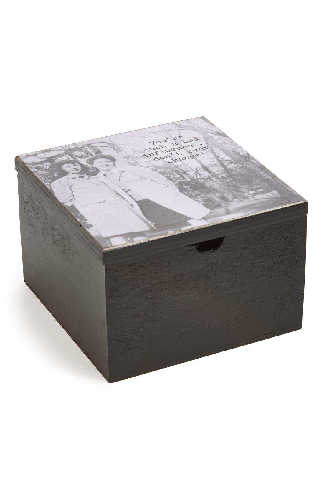 Alternate Image 2  - Trash Talk by Annie 'Don't Change' Wooden Decorative Box