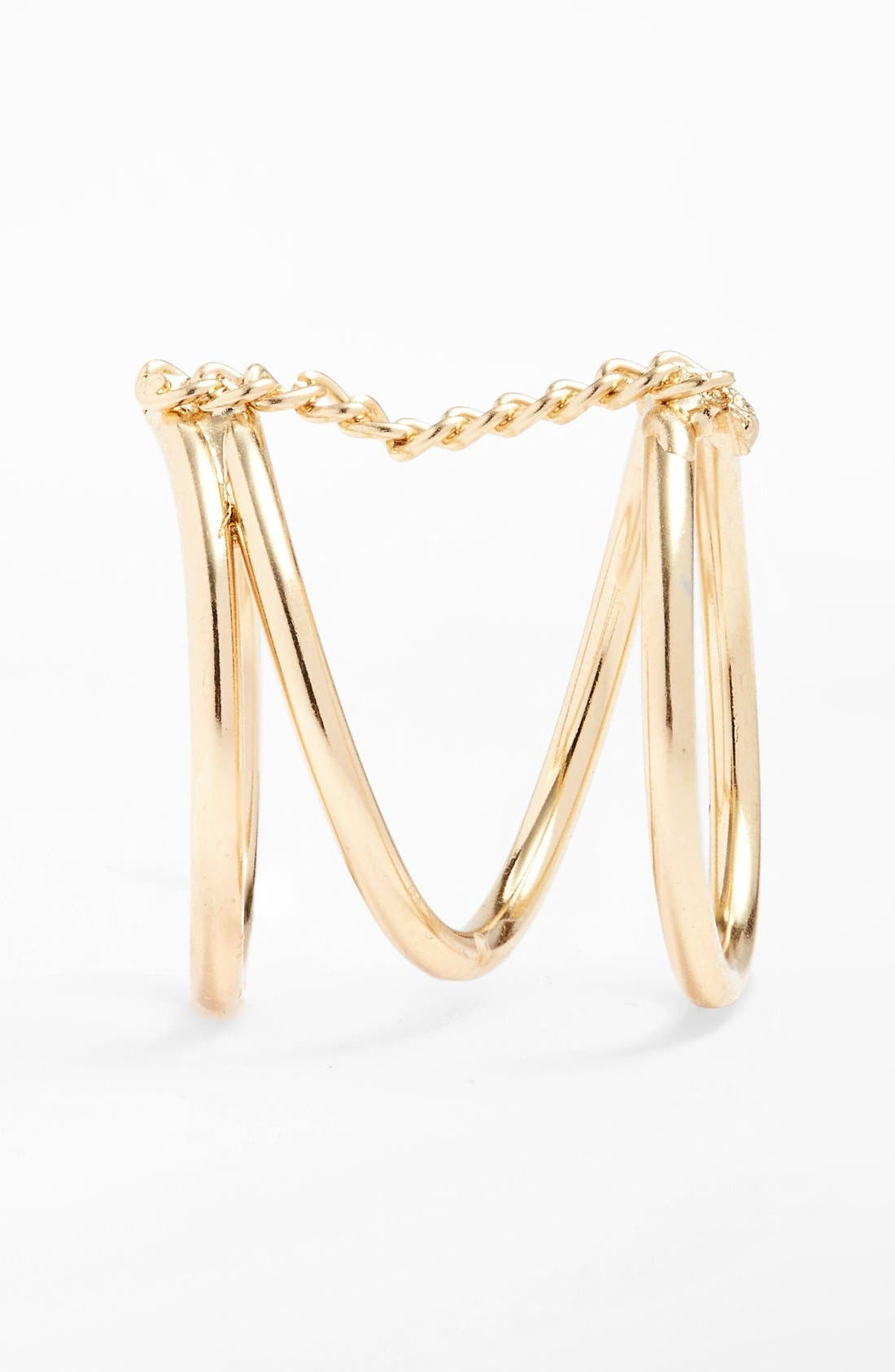 Alternate Image 2  - Topshop Chain Link Wrap Ring