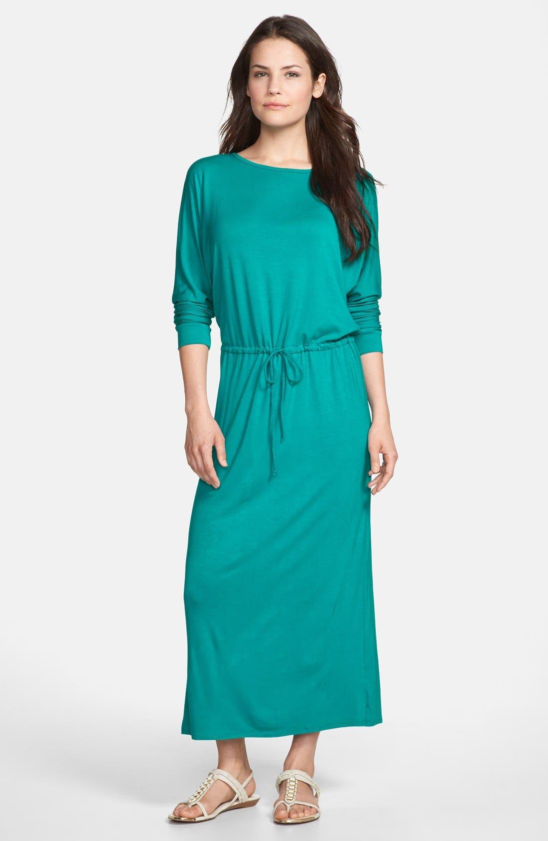 Main Image - Loveappella Tie Waist Maxi Dress