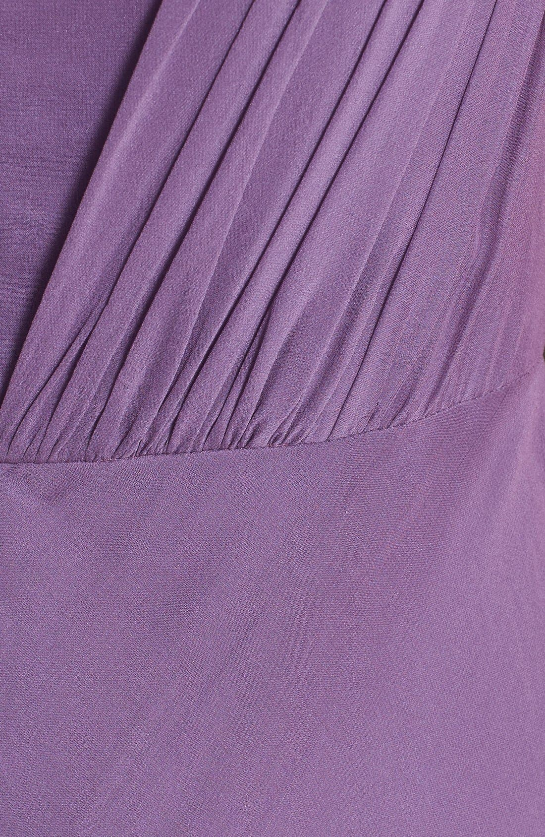 Alternate Image 3  - Vera Wang Shirred Chiffon Gown