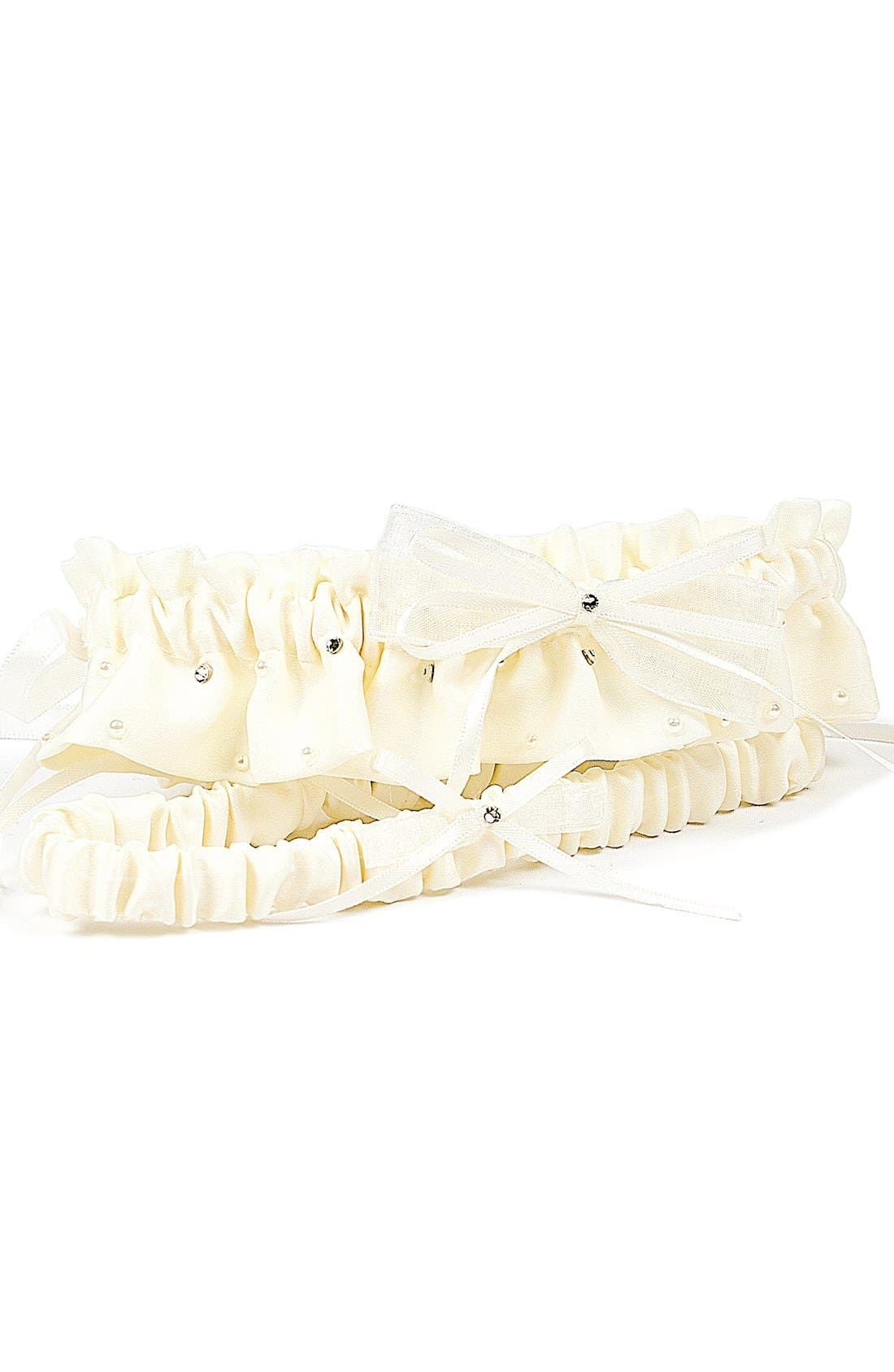 Alternate Image 1 Selected - Cathy's Concepts 'Candlelight' Adjustable Wedding Garter