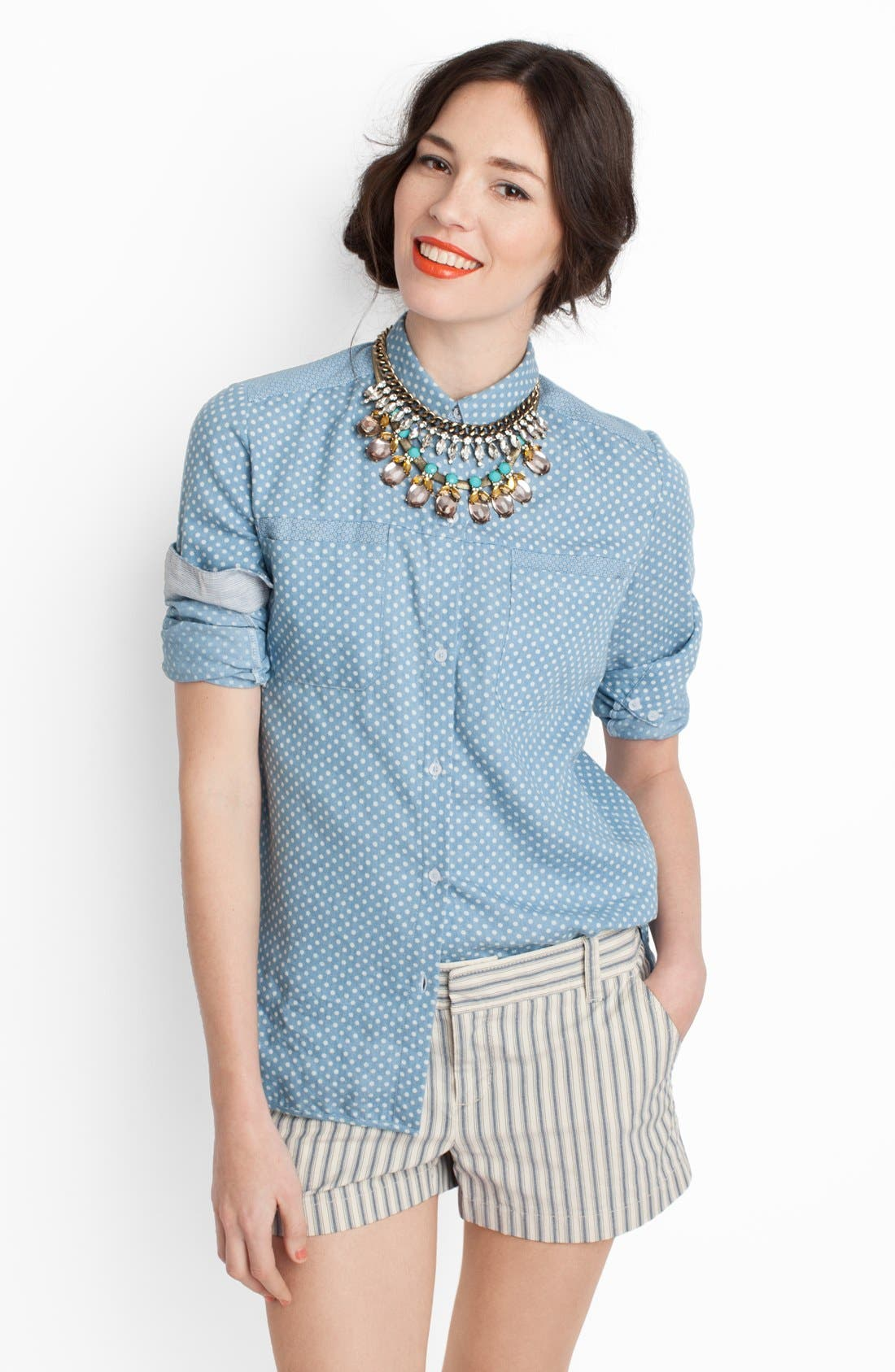 Alternate Image 2  - BaubleBar 'Crystal Ray' Collar Necklace