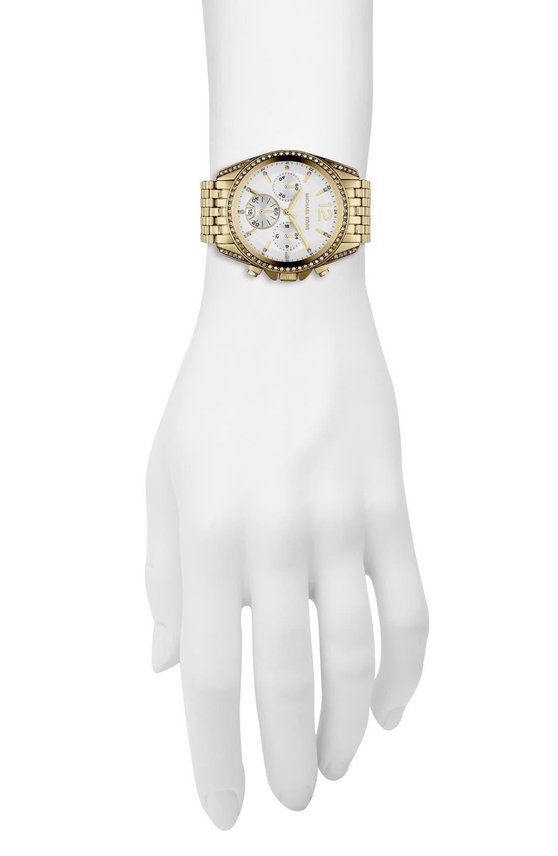 Alternate Image 2  - Michael Kors 'Pressley' Chronograph Bracelet Watch, 39mm